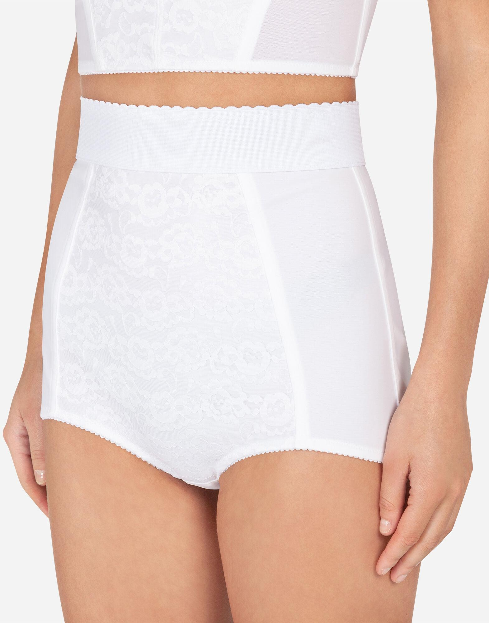 High-waisted shaper panties in jacquard and satin 3