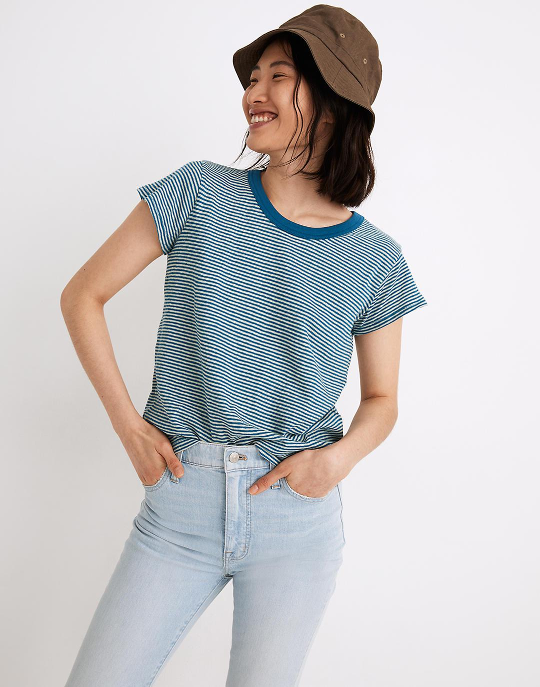 The Perfect Vintage Tee in Parnell Stripe