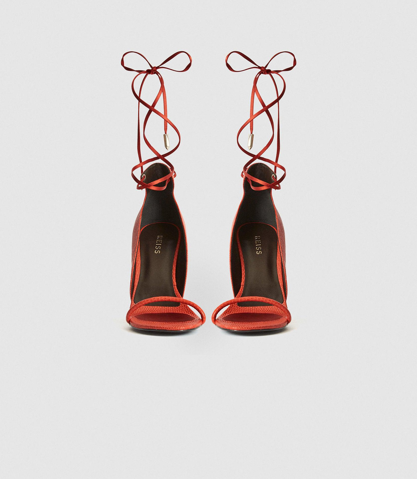 COCO - LEATHER STRAPPY WRAP SANDALS 2