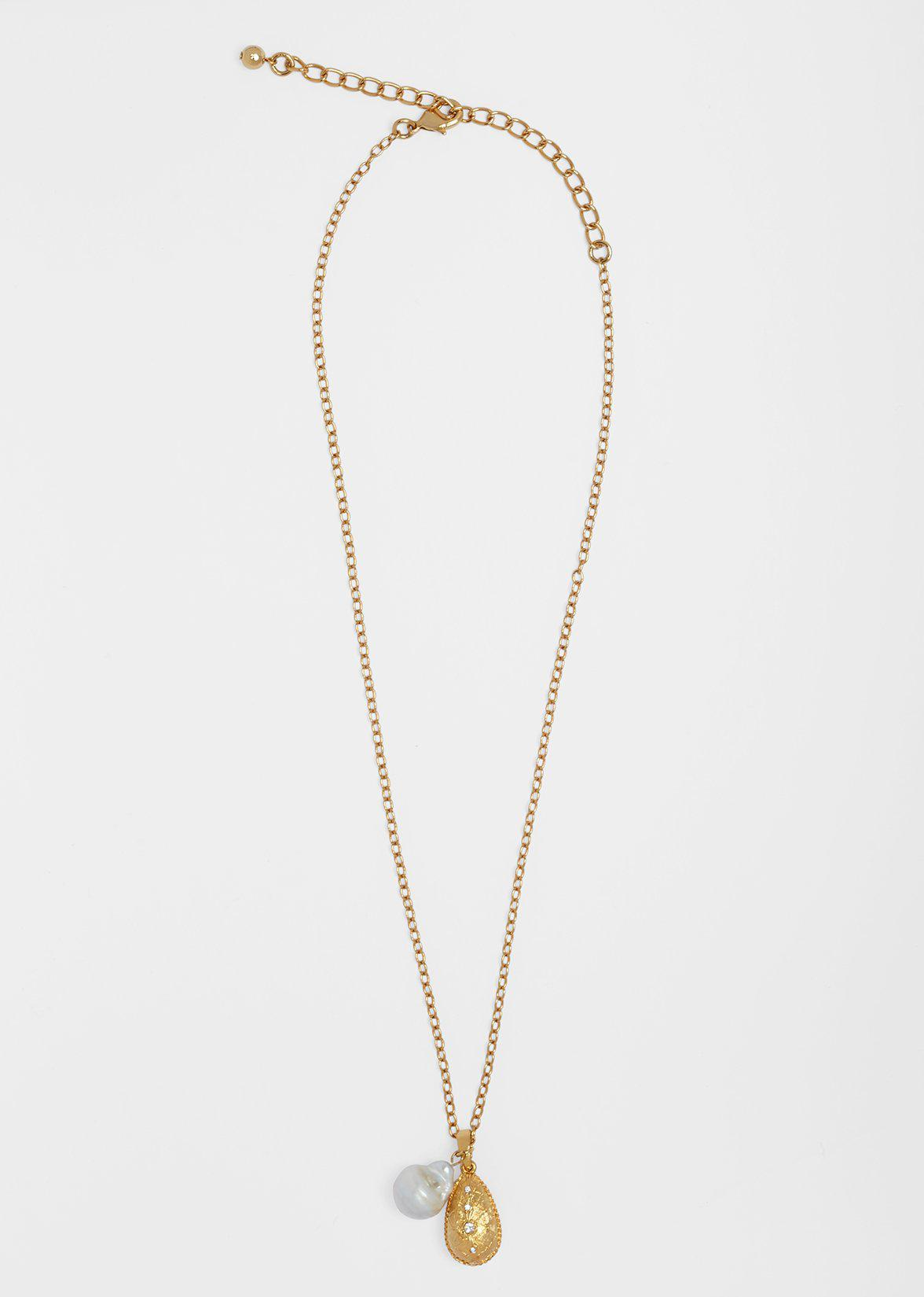 TEARDROP NECKLACE WITH FRESHWATER PEARL