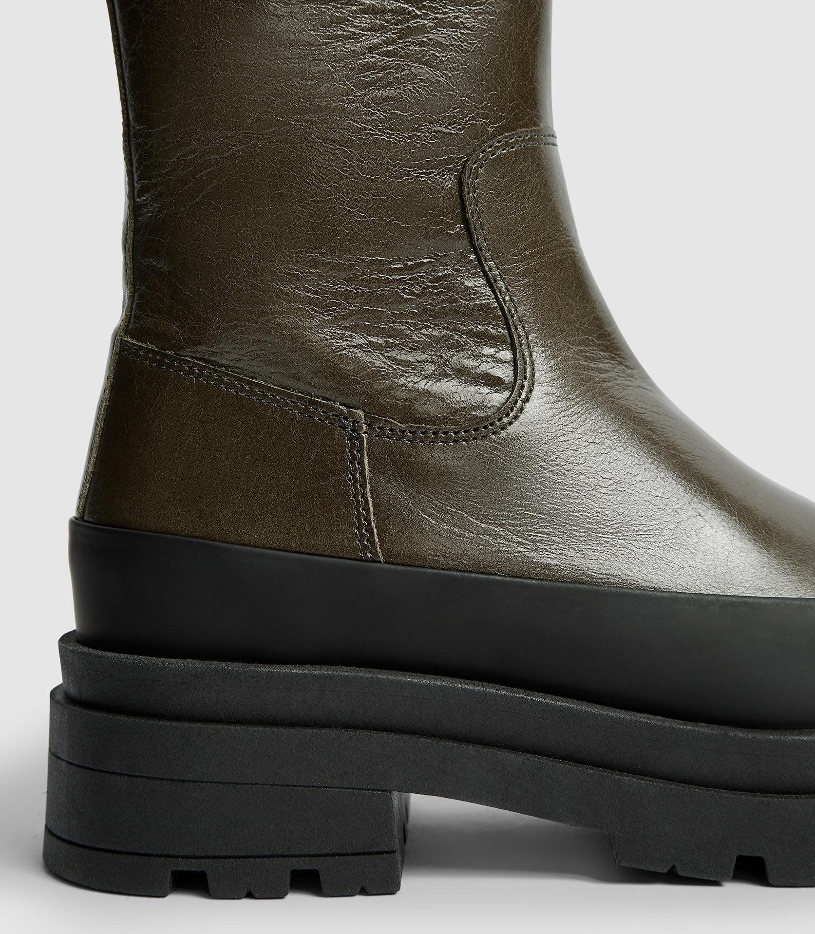 AVE - LEATHER STOMPER BOOTS 3
