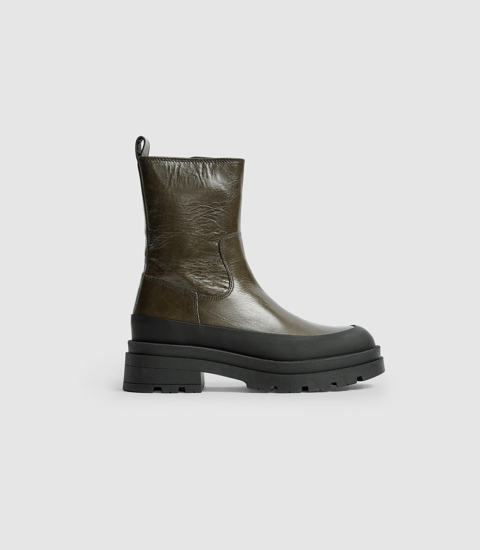 AVE - LEATHER STOMPER BOOTS
