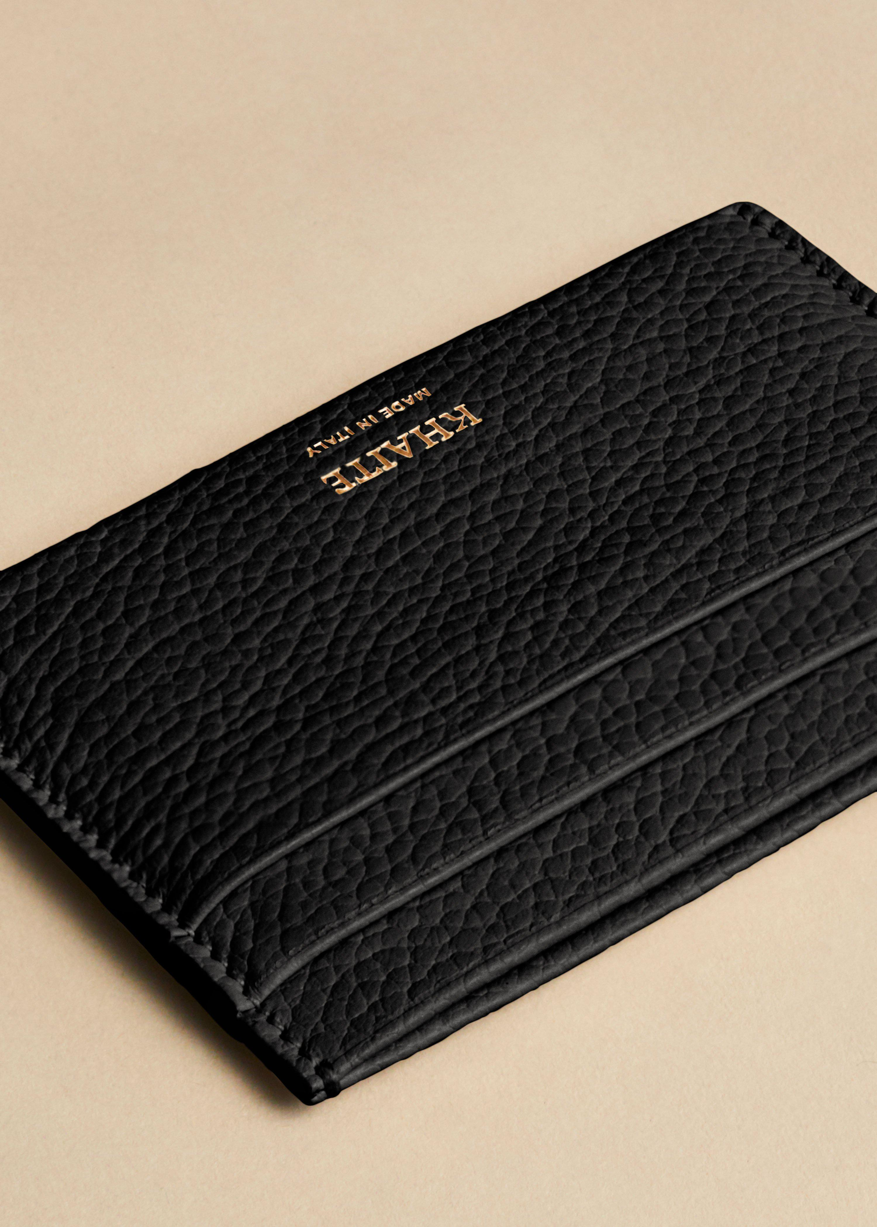 The Card Case in Black Leather 2