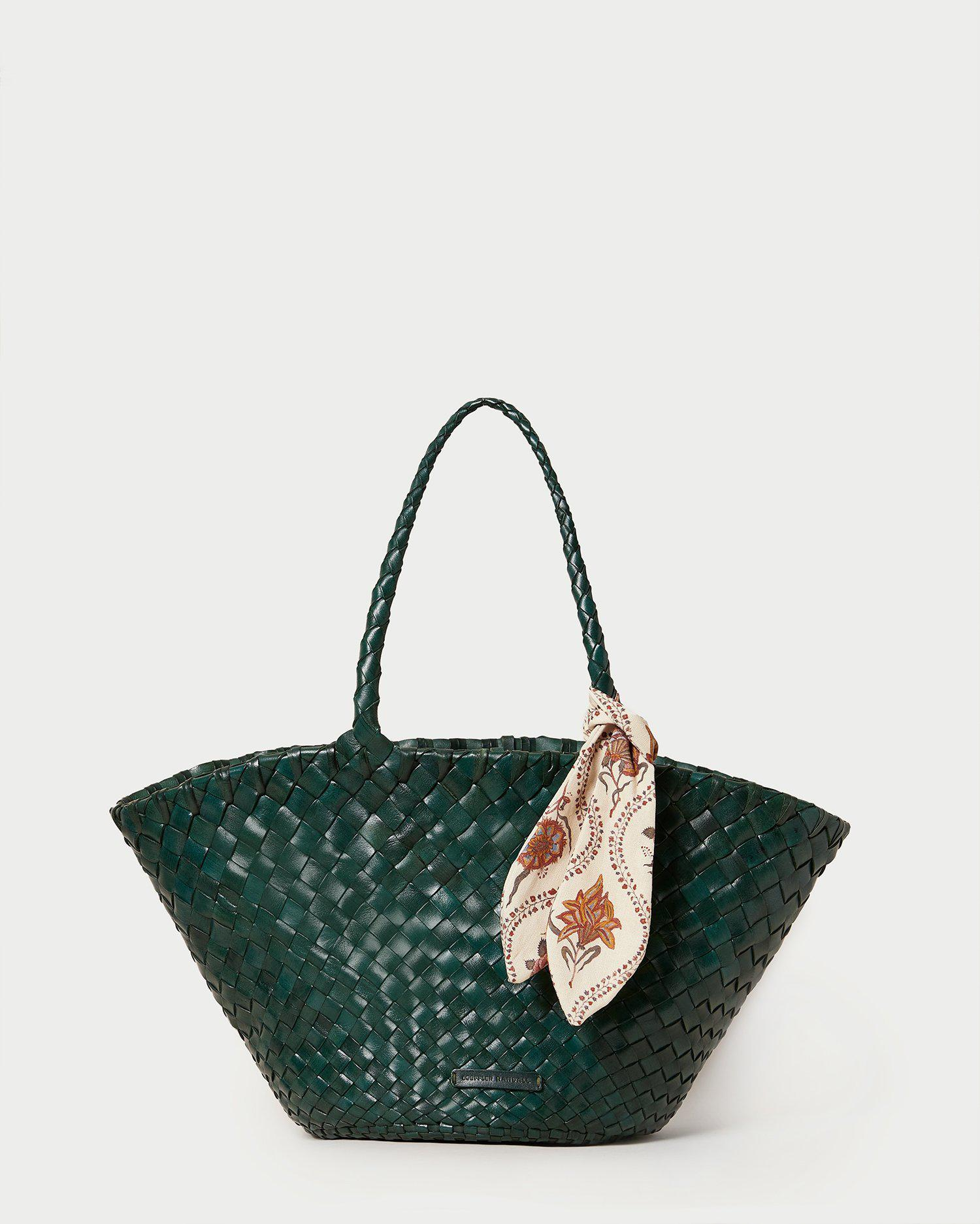 Kai Forest Woven Leather Tote