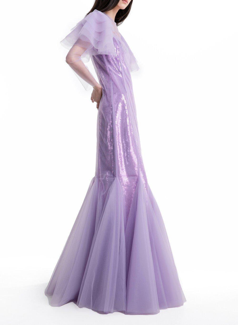 AURORA GOWN LILAC TULLE 3