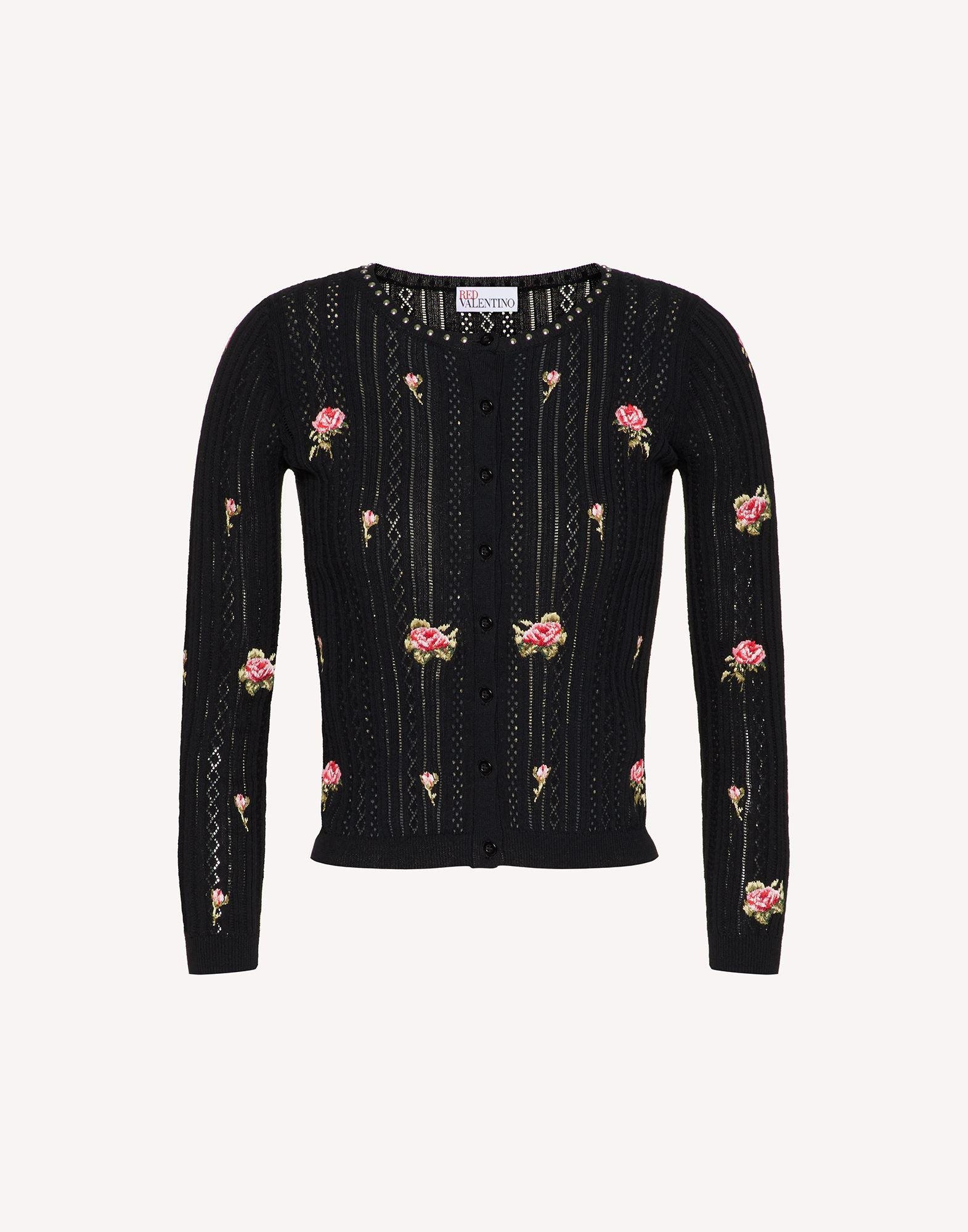 COTTON CARDIGAN WITH ROSE EMBROIDERY 4