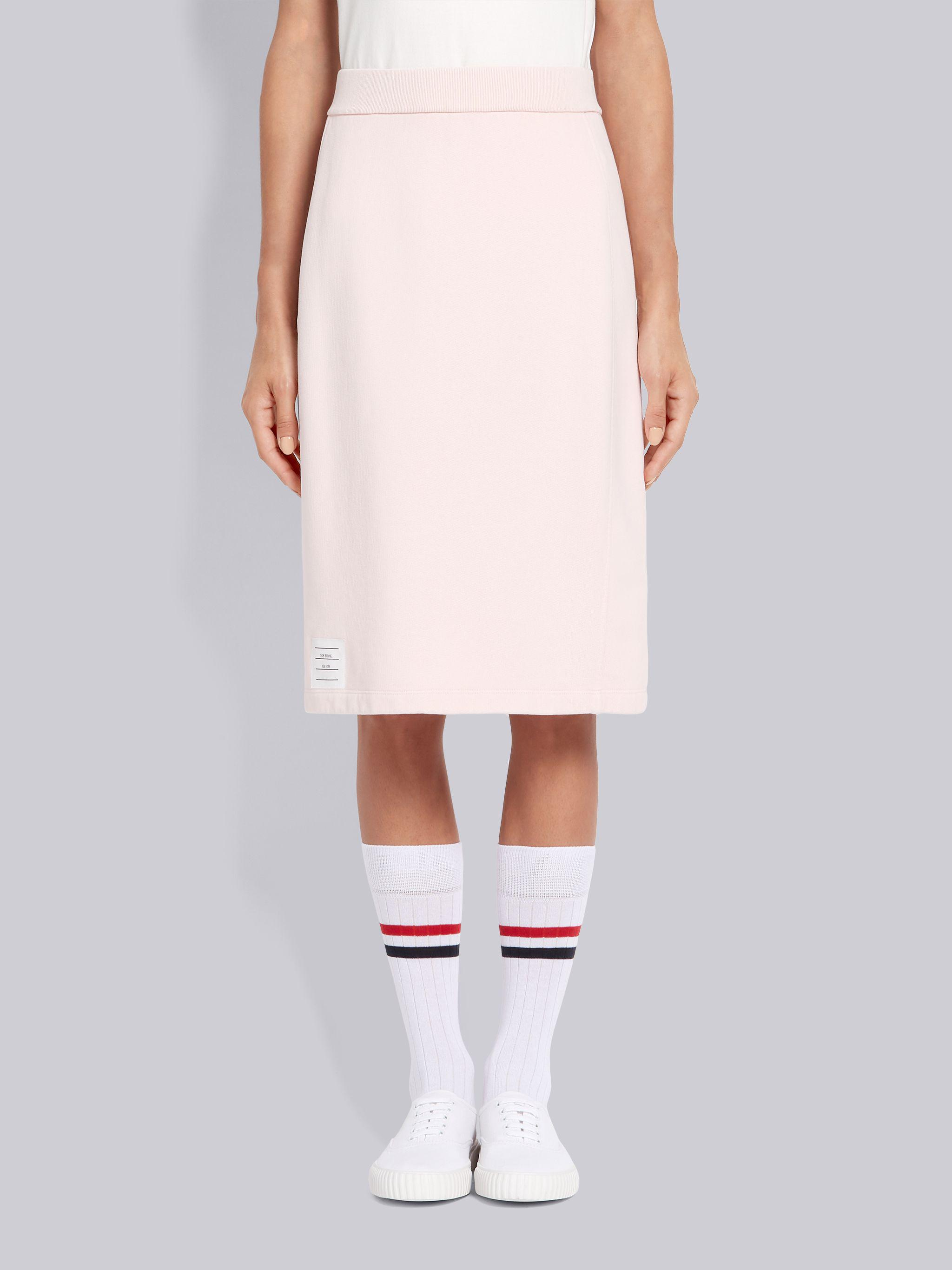 Pink Classic Cotton Loopback Garment Dyed Skirt