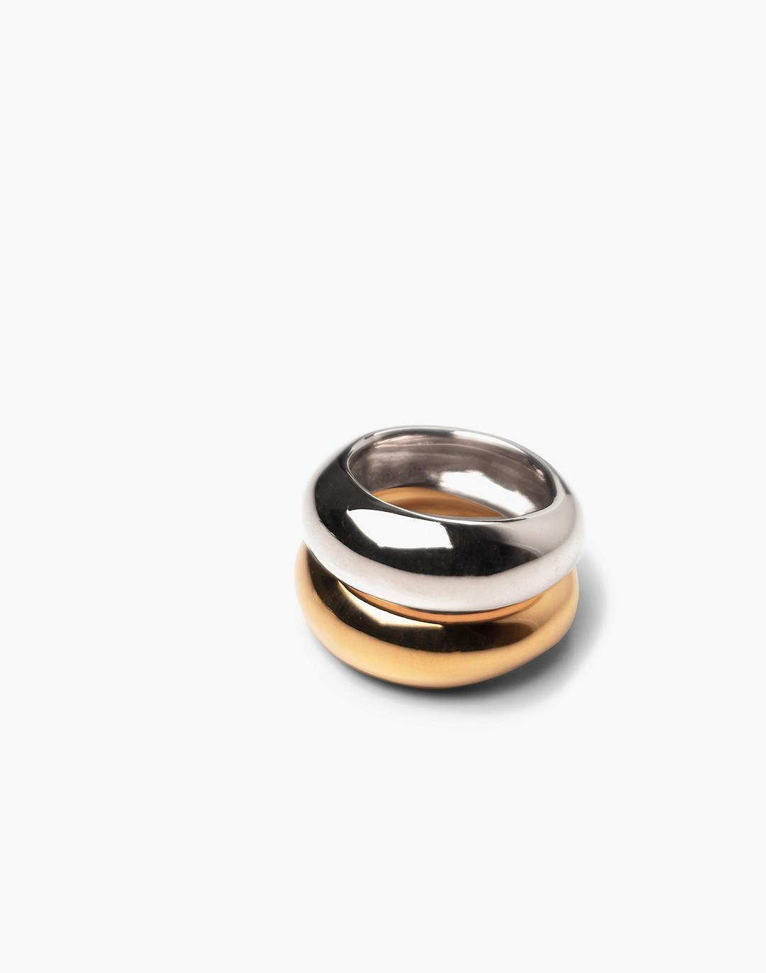 CHARLOTTE CAUWE STUDIO Bubble Ring Set in Gold & Sterling Silver