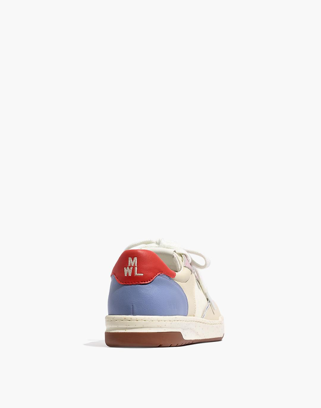 Court Sneakers in Colorblock Leather and Nubuck 2
