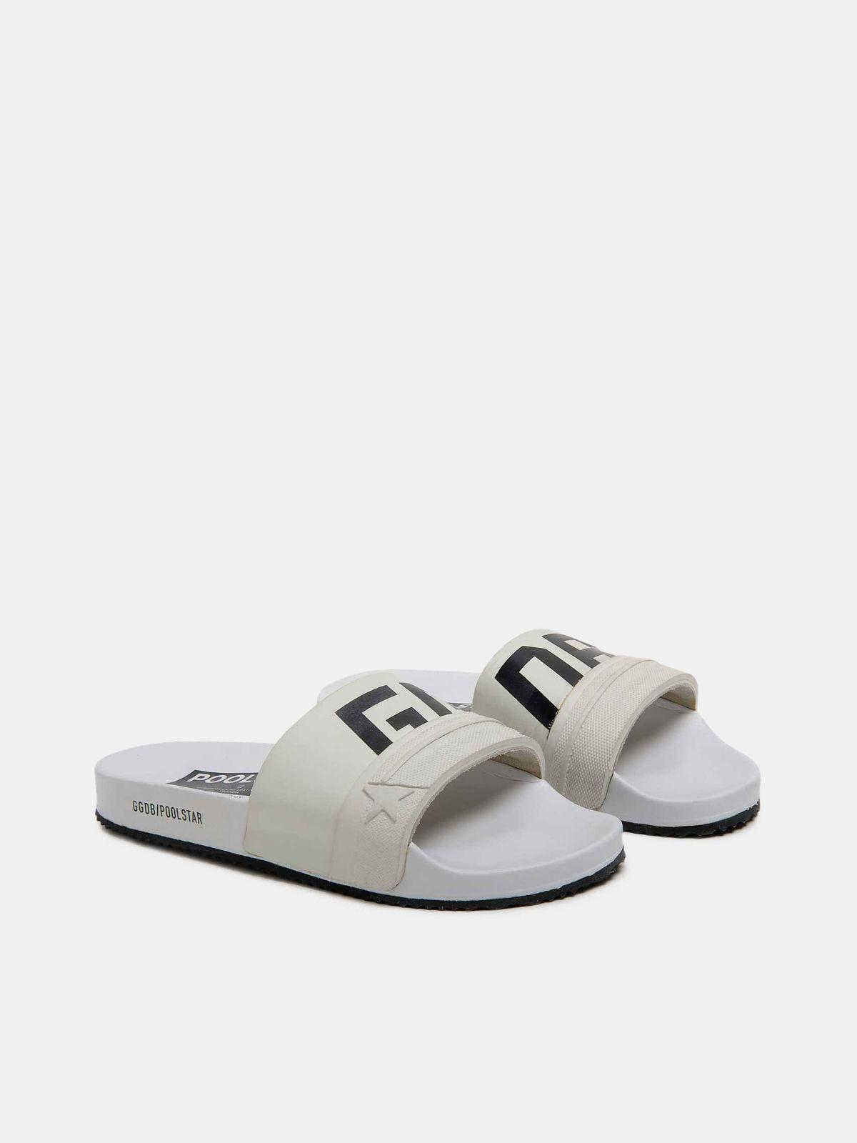 White Poolstars for women with GGDB logo 2