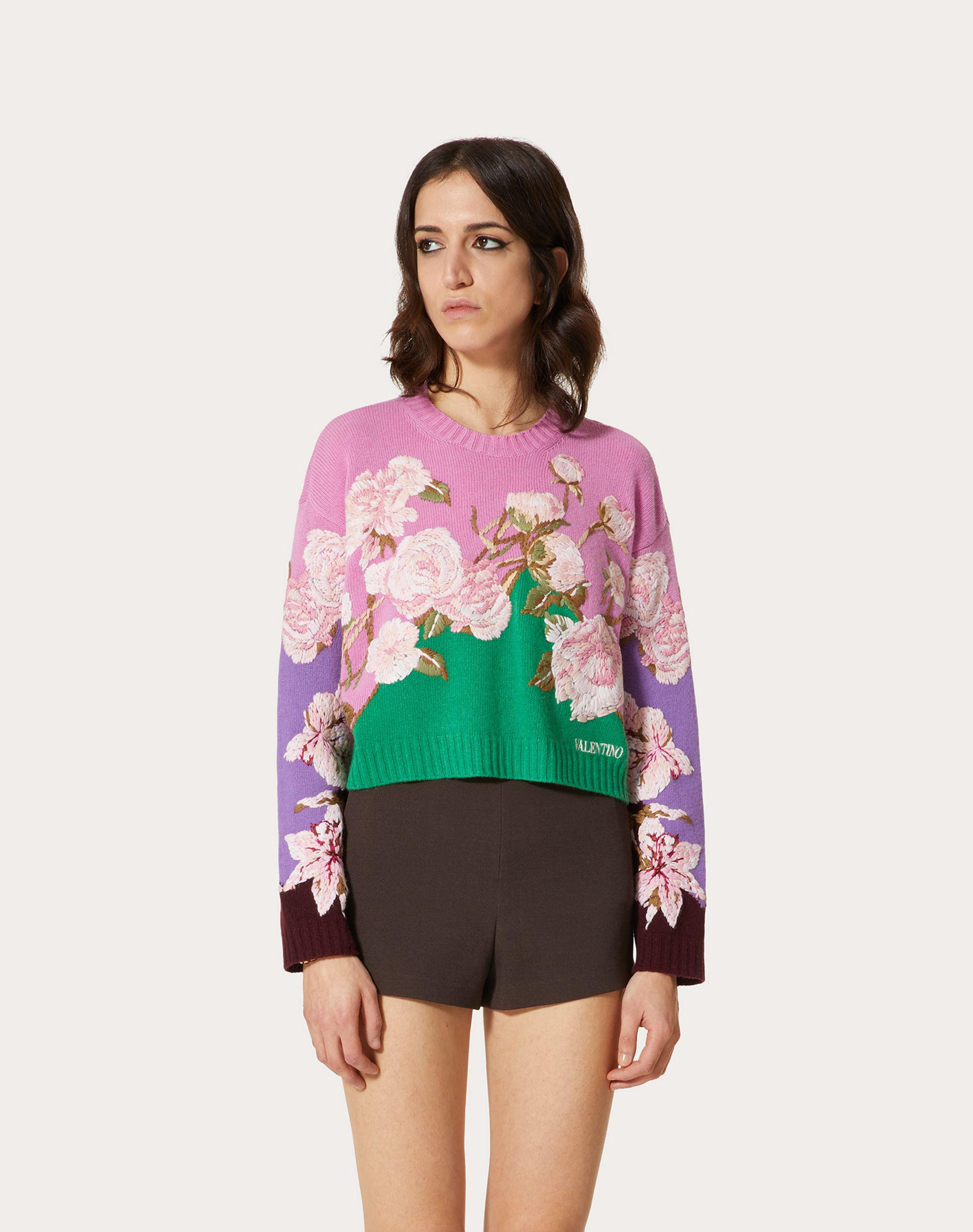 EMBROIDERED CASHMERE WOOL SWEATER 1