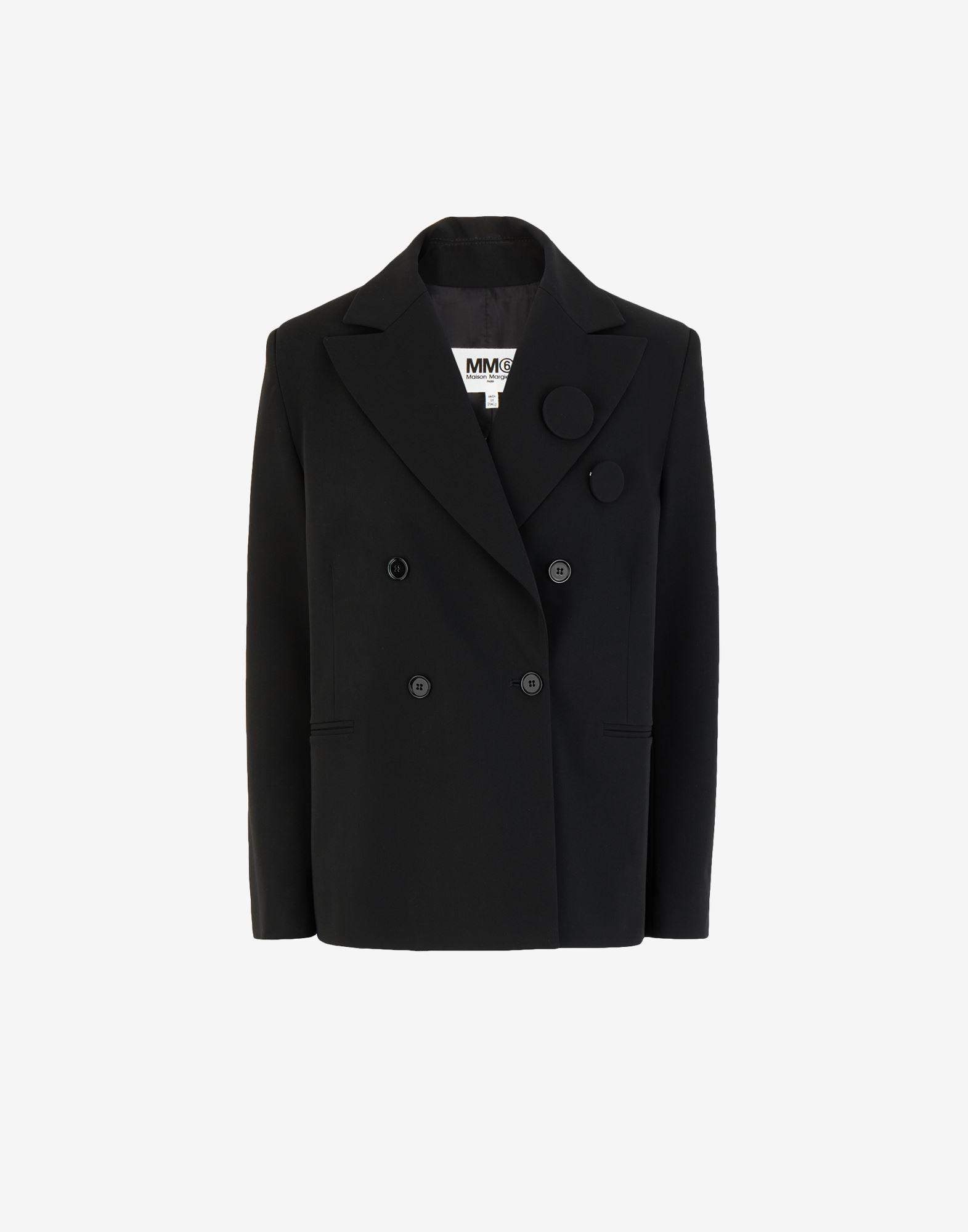 Badge double-breasted blazer 4