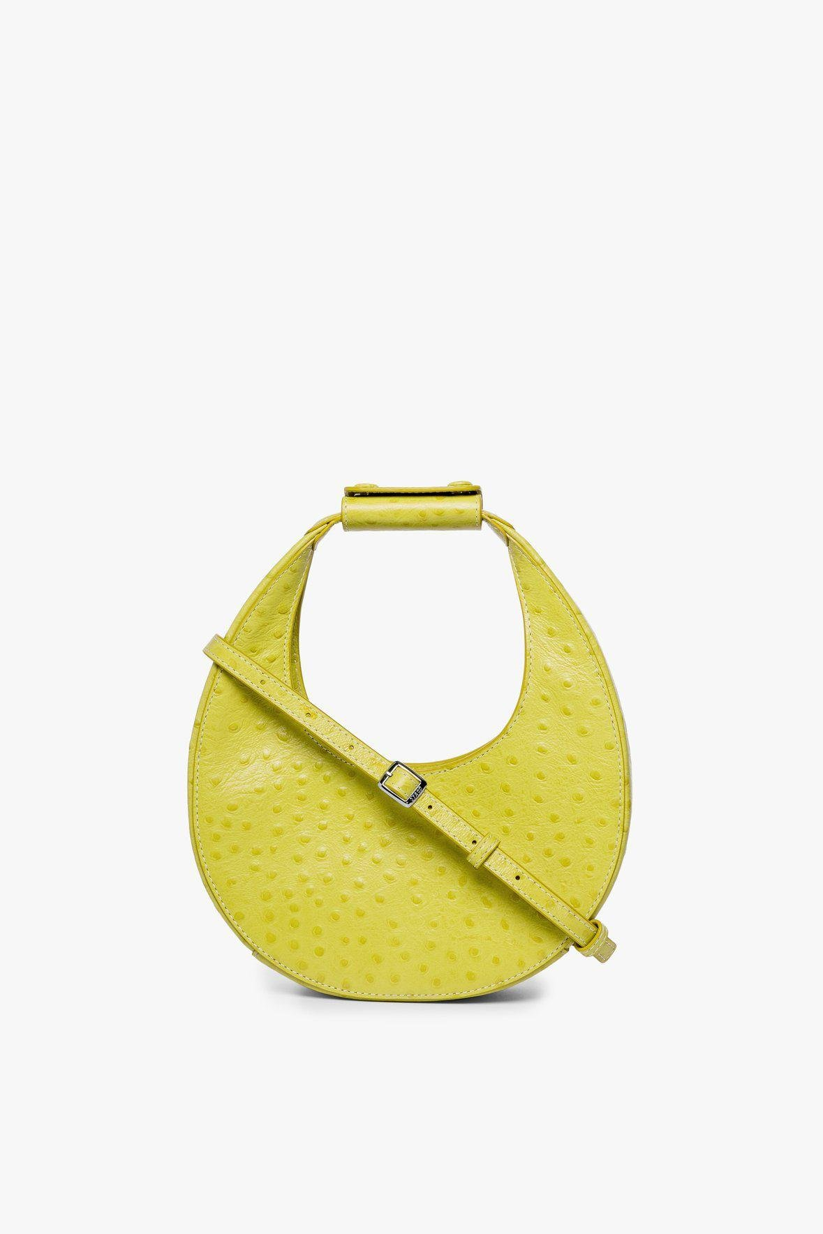 MINI MOON BAG   CHARTREUSE OSTRICH EMBOSSED