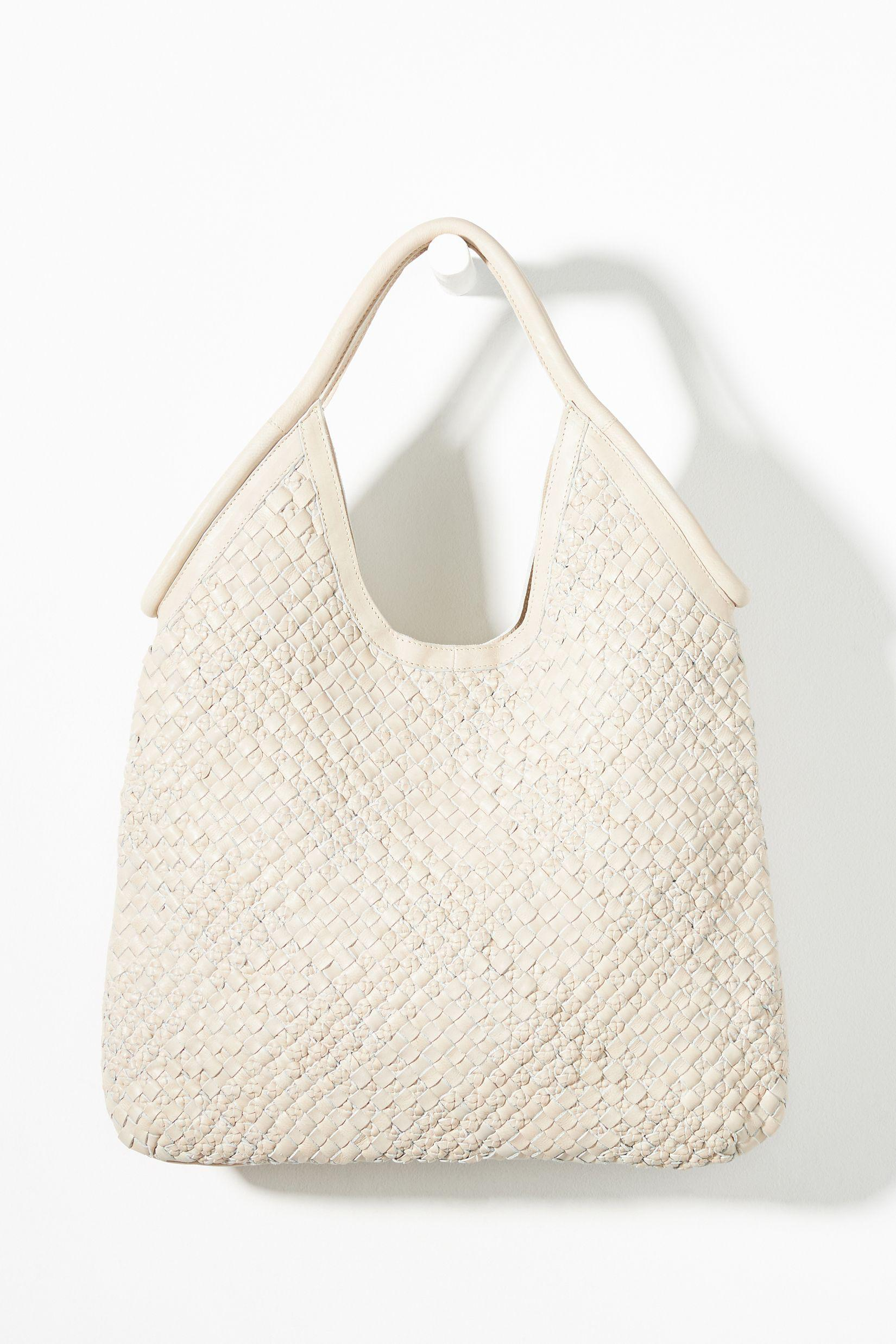 Woven Leather Tote Bag