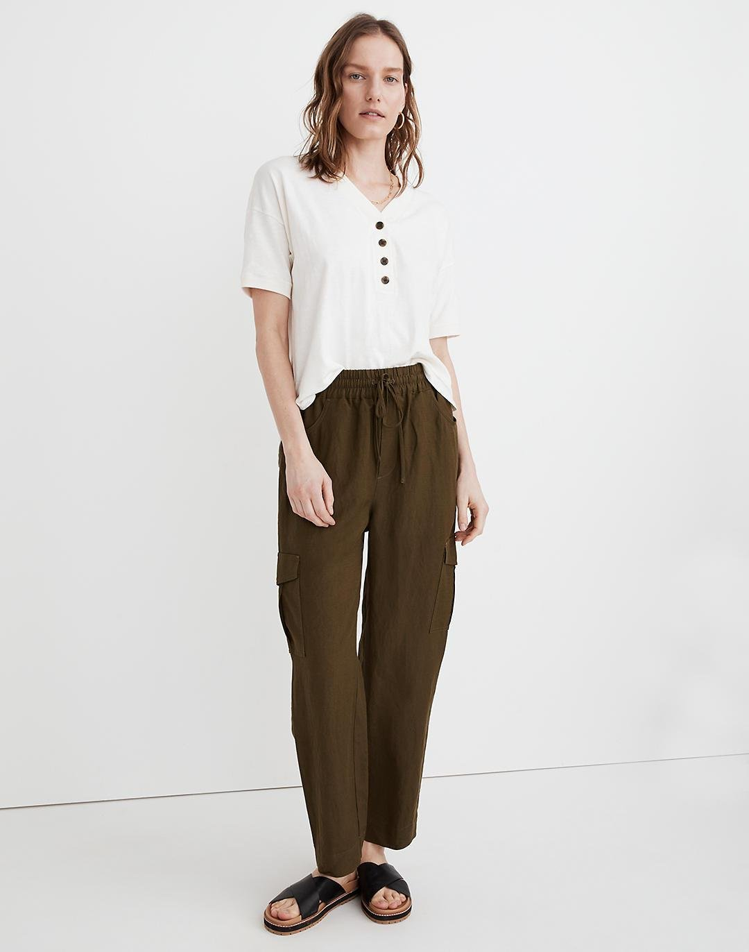 Tapered Huston Cargo Pull-On Crop Pants