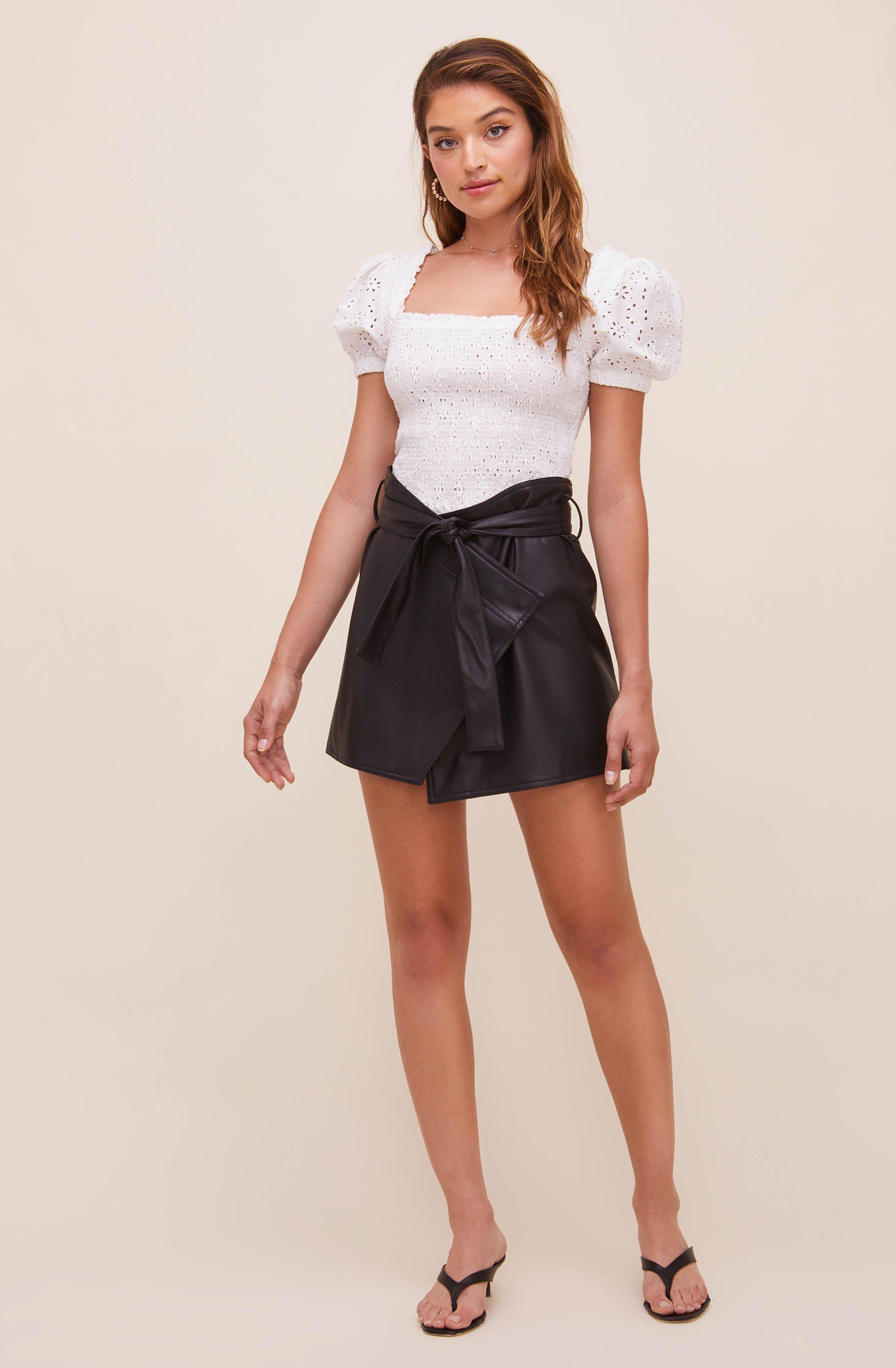 Briar Faux Leather Skirt