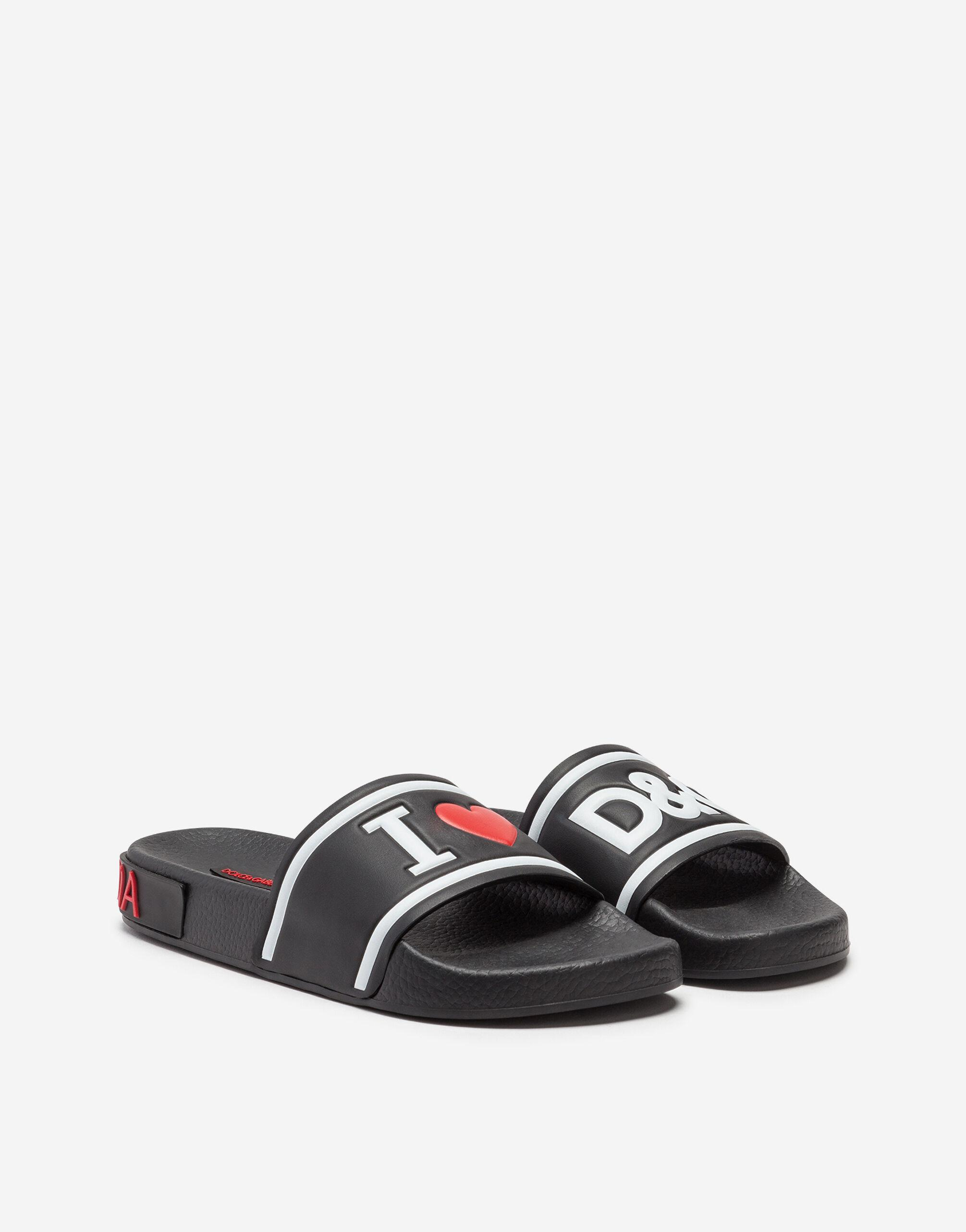 Rubber and calfskin sliders with high-frequency detailing 1
