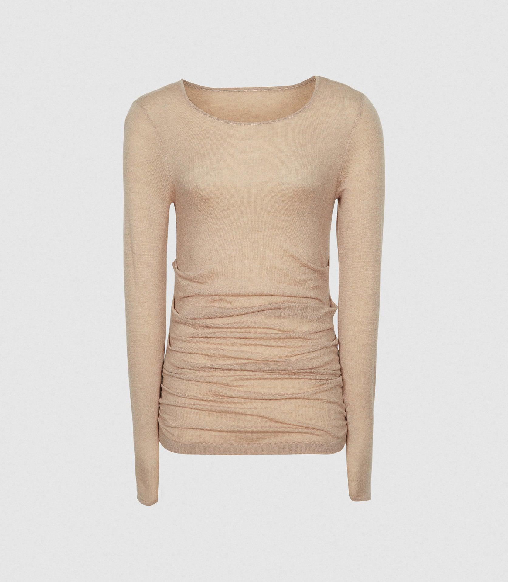 MARGOT - WOOL CASHMERE BLEND RUCHED TOP 5