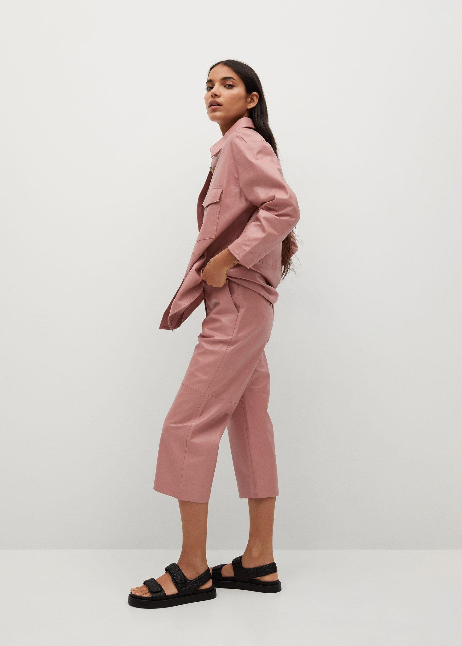 Leather culotte trouser 5