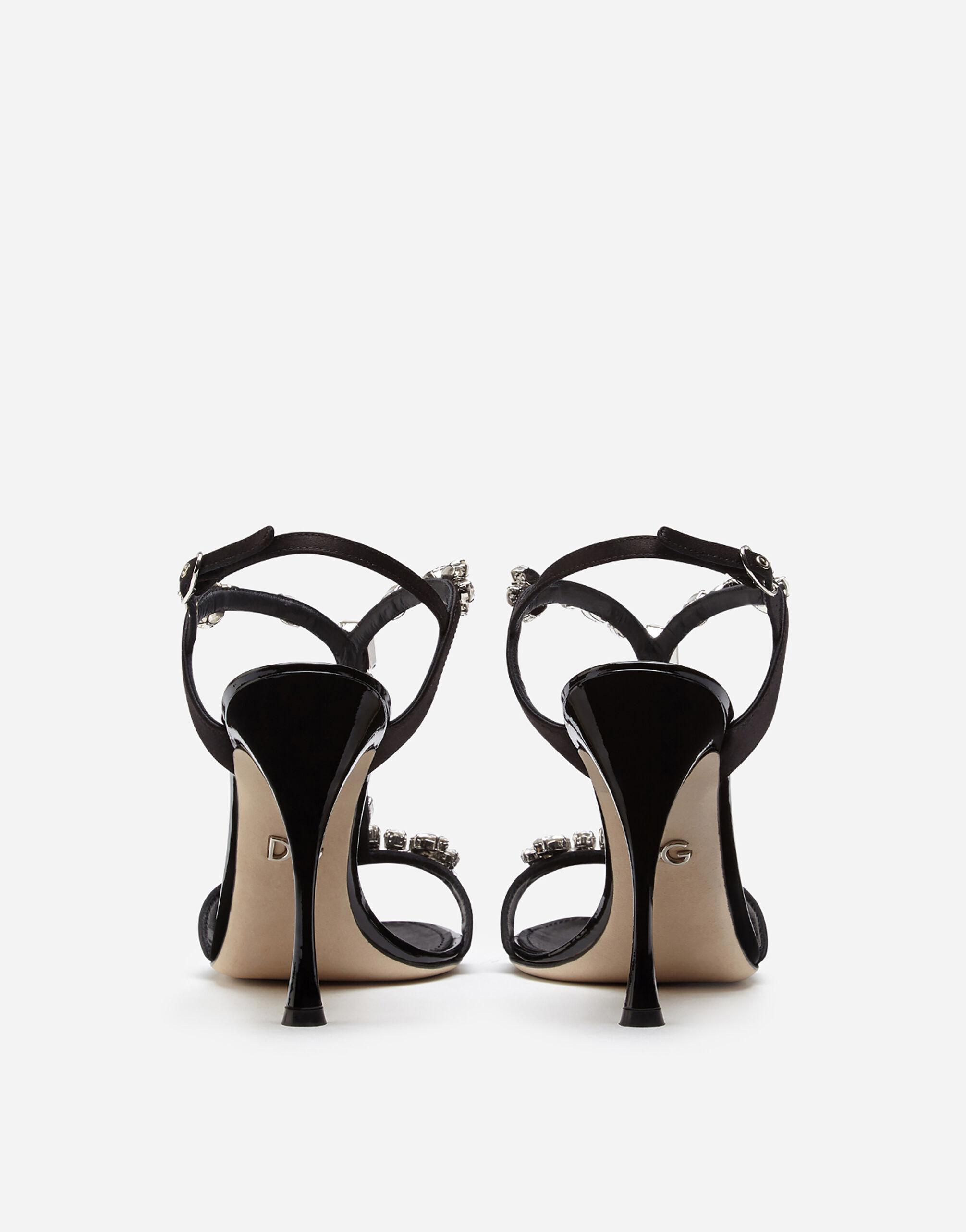 Satin sandals with embroidery 2