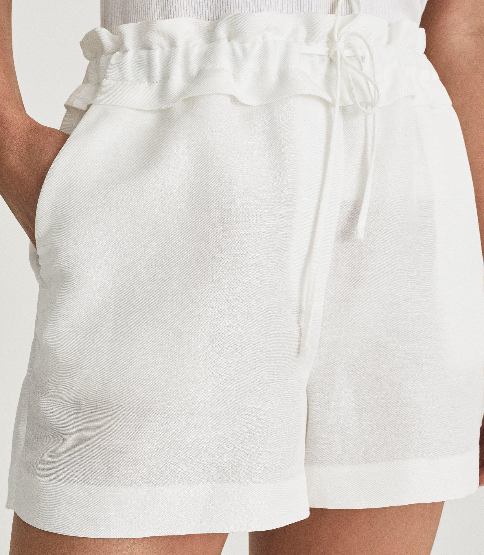 LACEY - LINEN BLEND DRAWCORD SHORTS 5