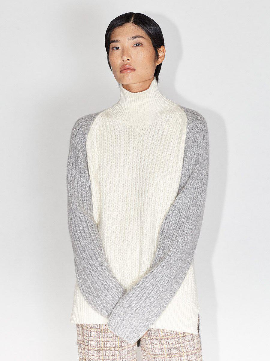 Inverted Cable Turtleneck