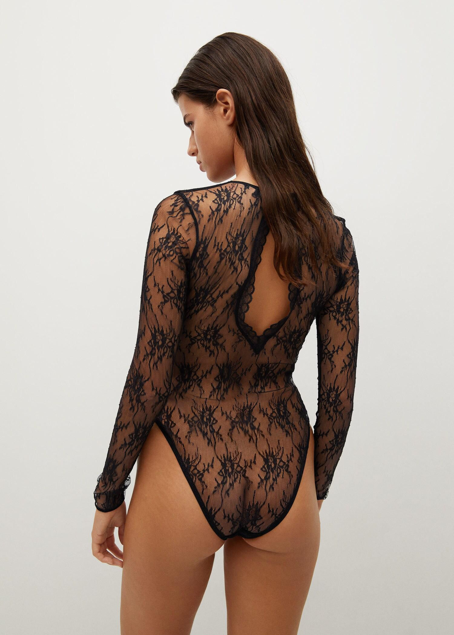 Short-sleeved lace body 2
