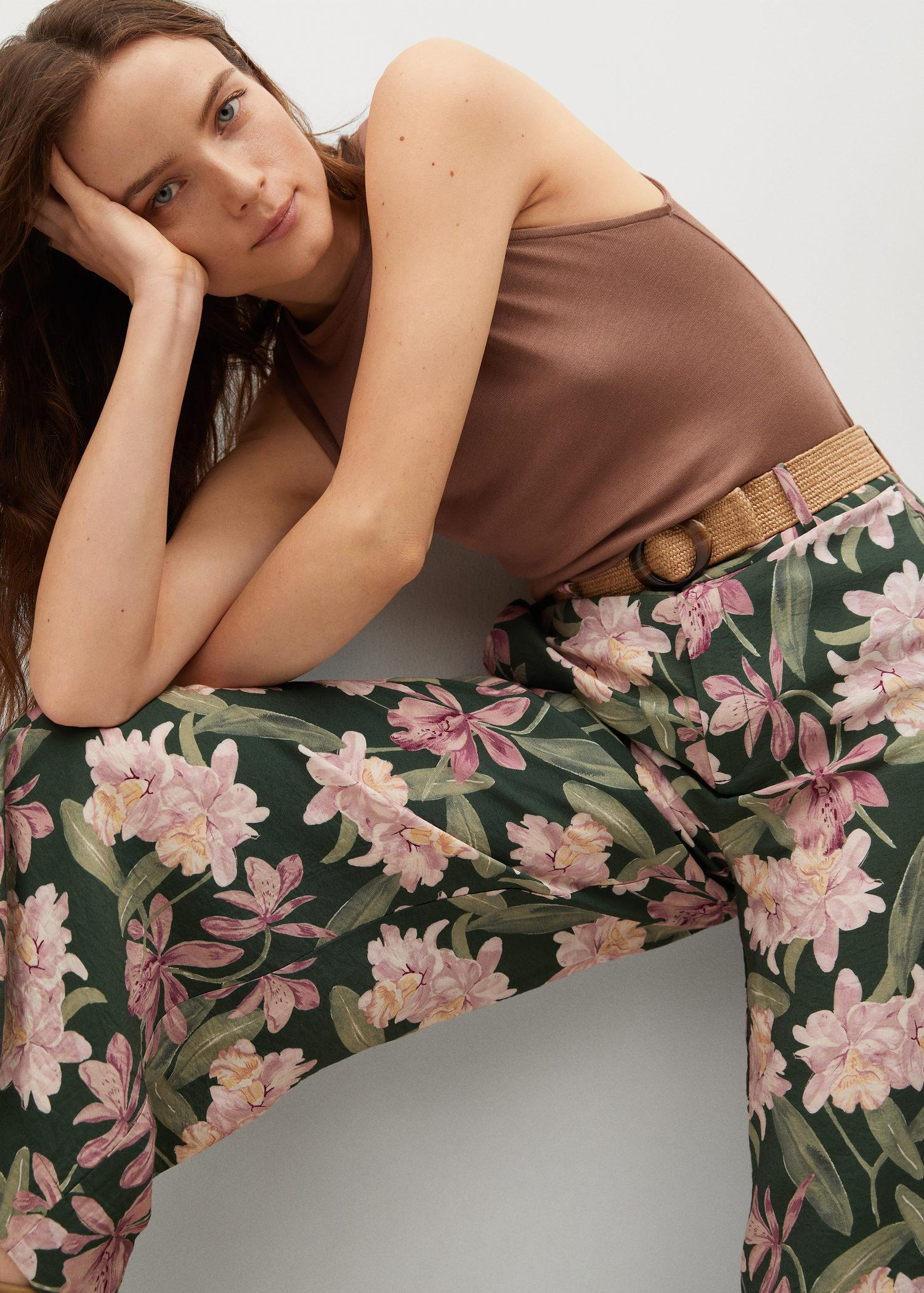 Printed culotte trousers 3