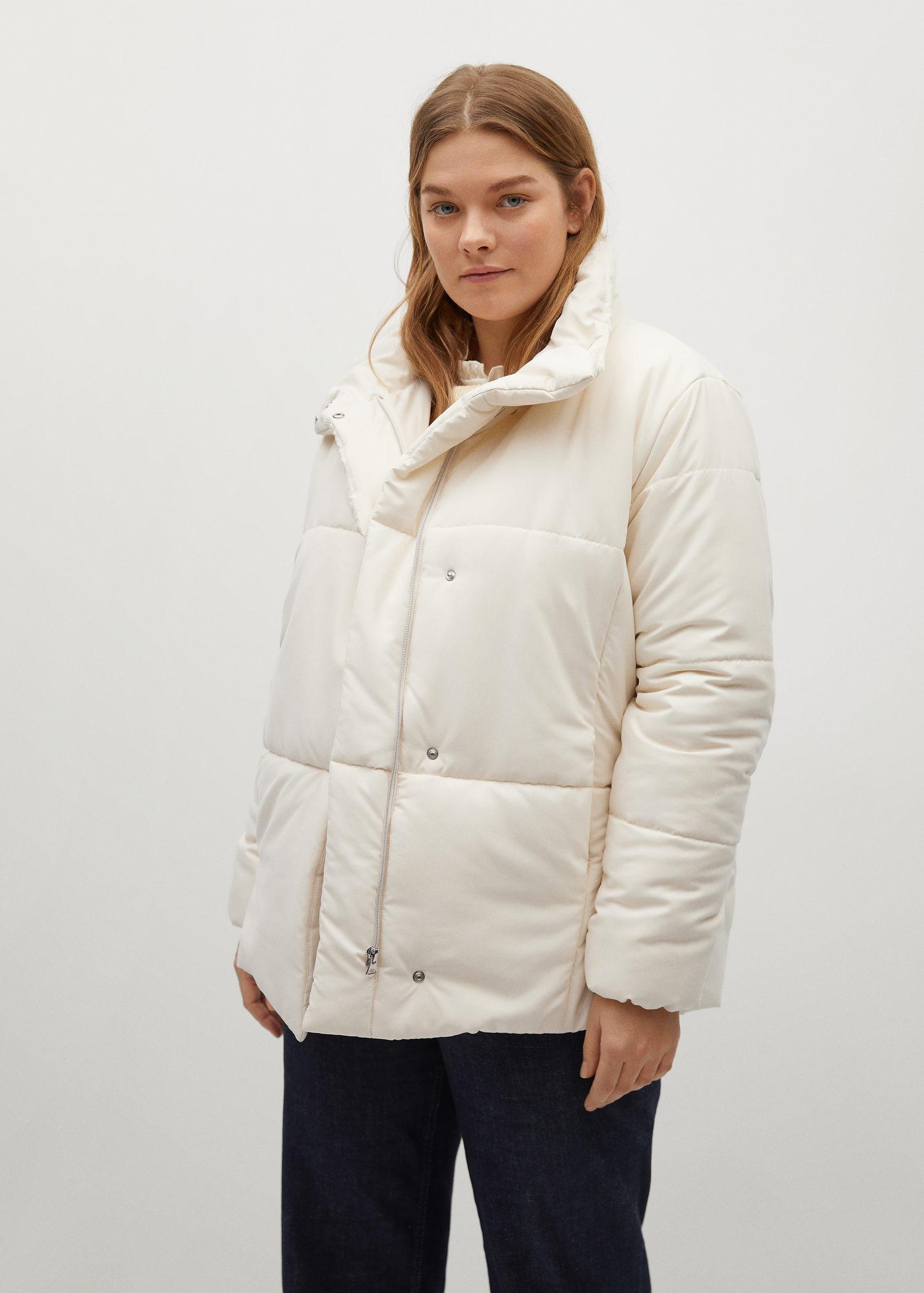 Long collar quilted coat 1