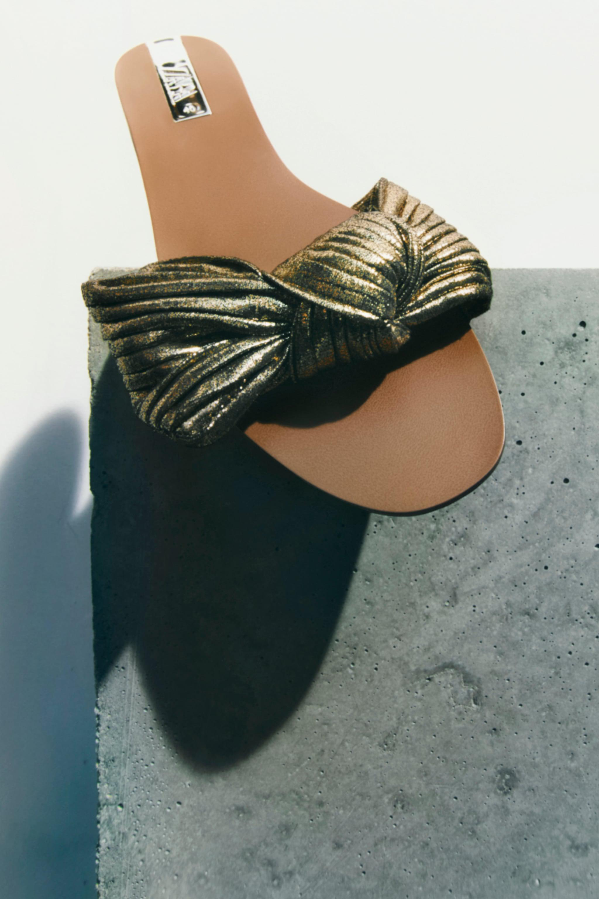 FLAT SANDALS WITH BOW 0
