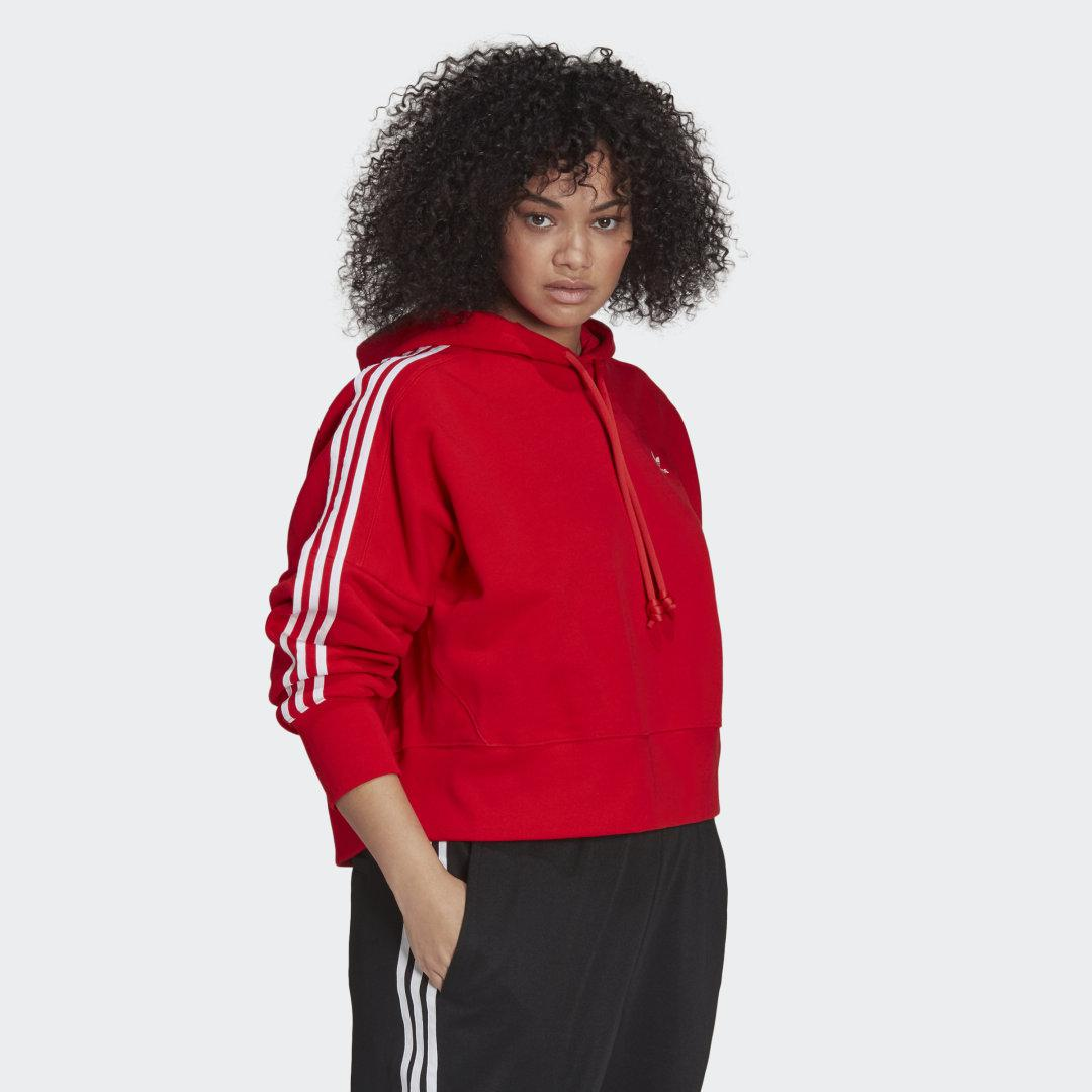 Adicolor Classics Cropped Hoodie (Plus Size) Red 5
