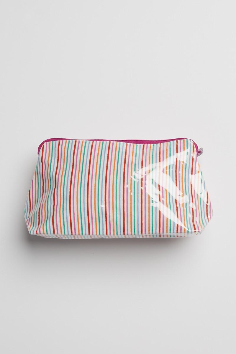 MULTI PARTY STRIPE MAKEUP BAG
