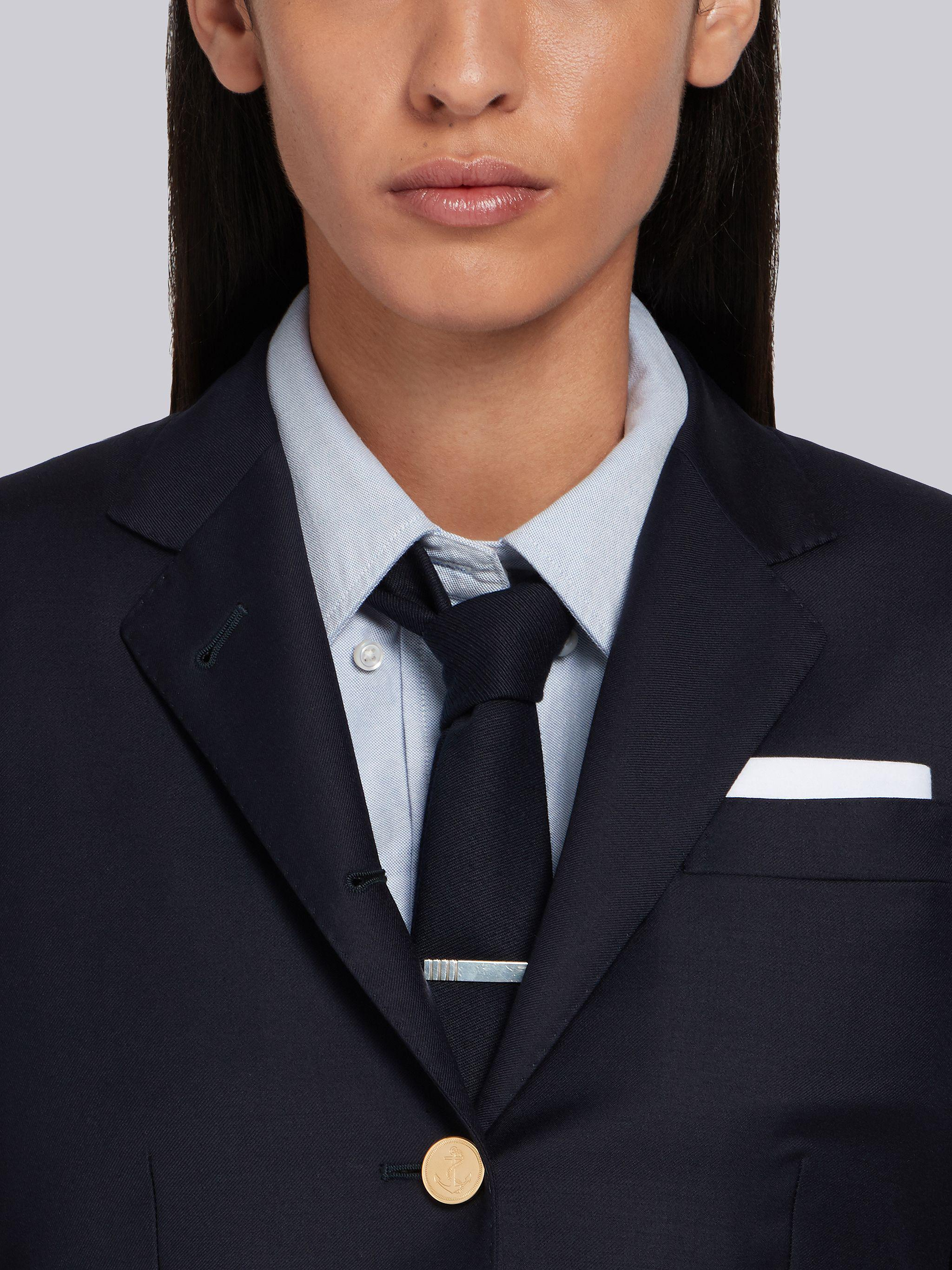 Navy Wool Twill Single Breasted High Armhole Sport Coat 4