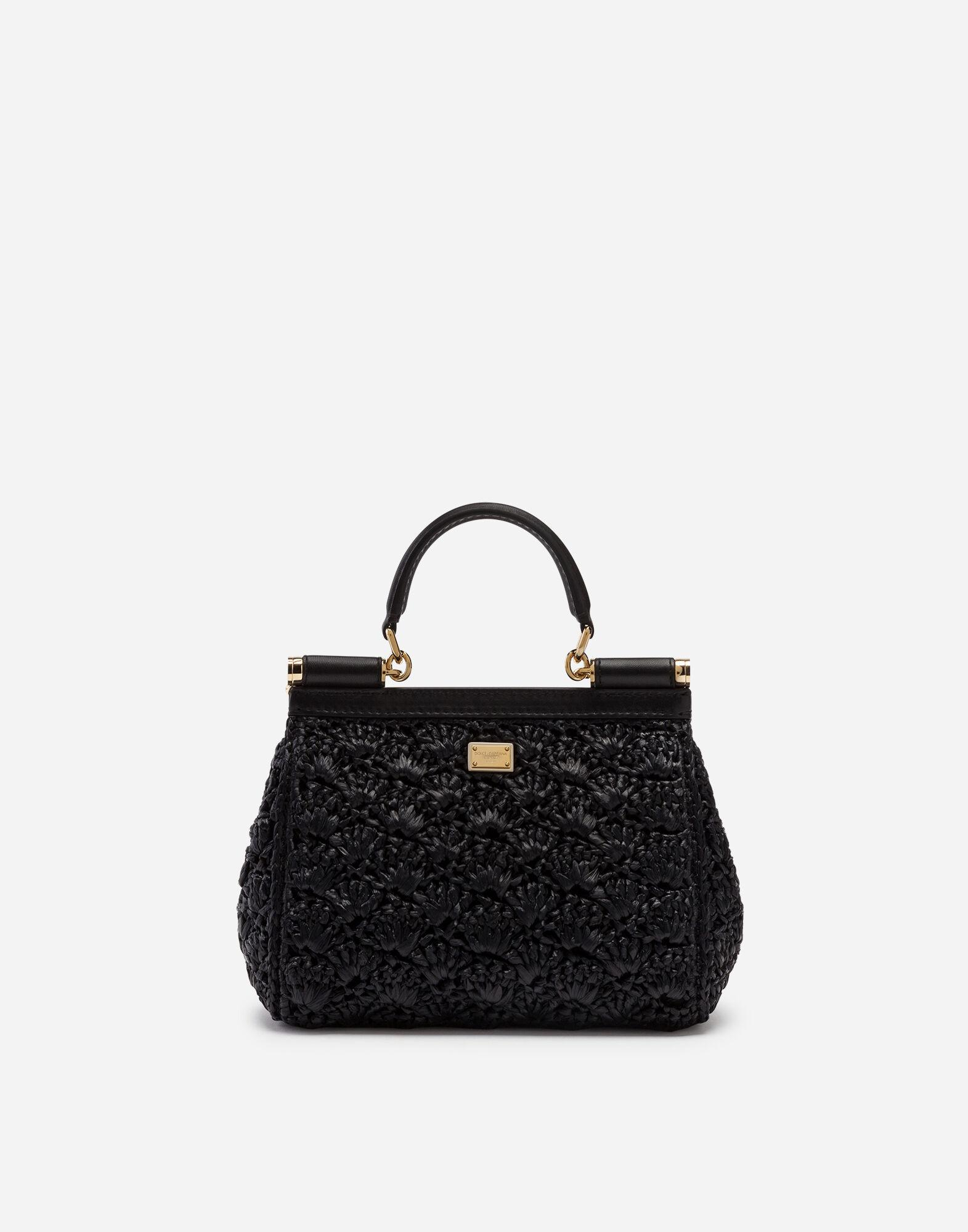 Small Sicily bag in raffia crochet with applications 2
