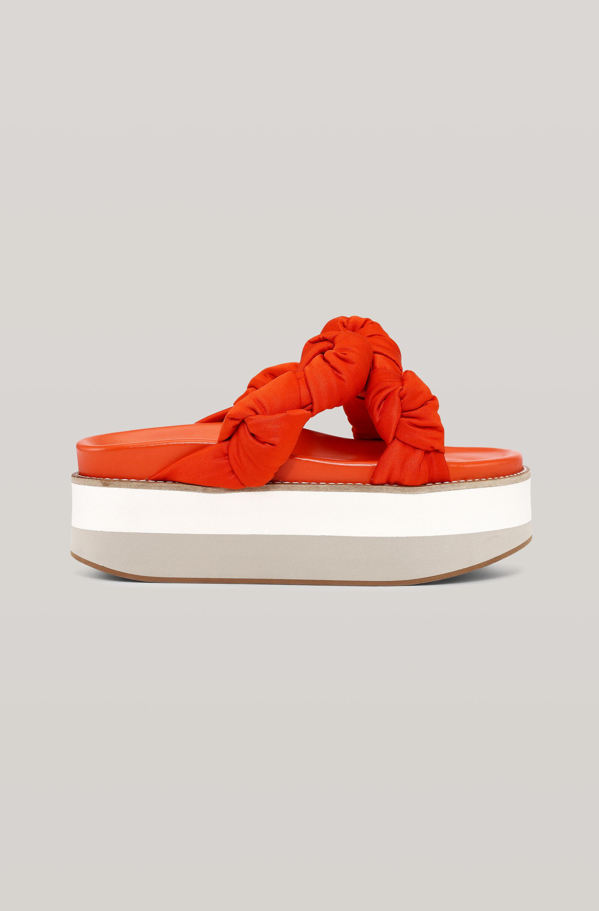 Recycled Satin Knotted Flatform