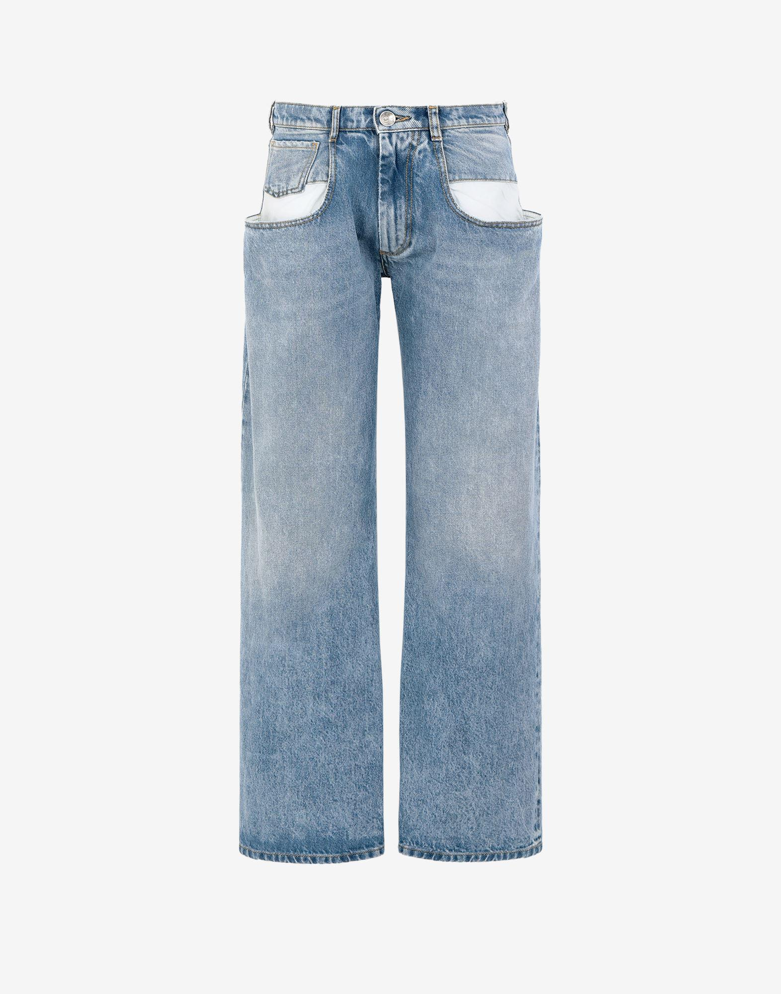 Straight jeans with contrasted pockets 4