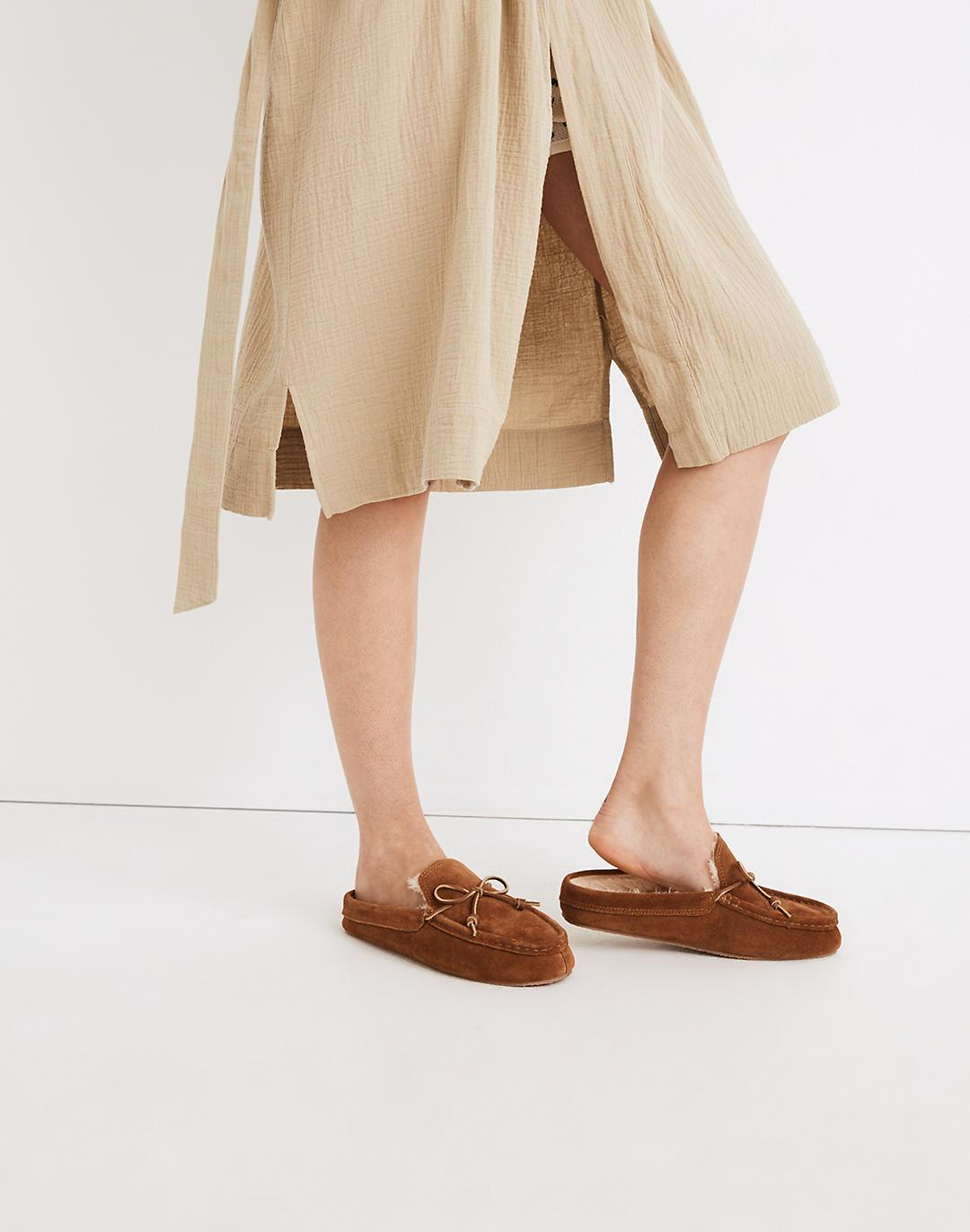 Suede Moccasin Scuff Slippers 3