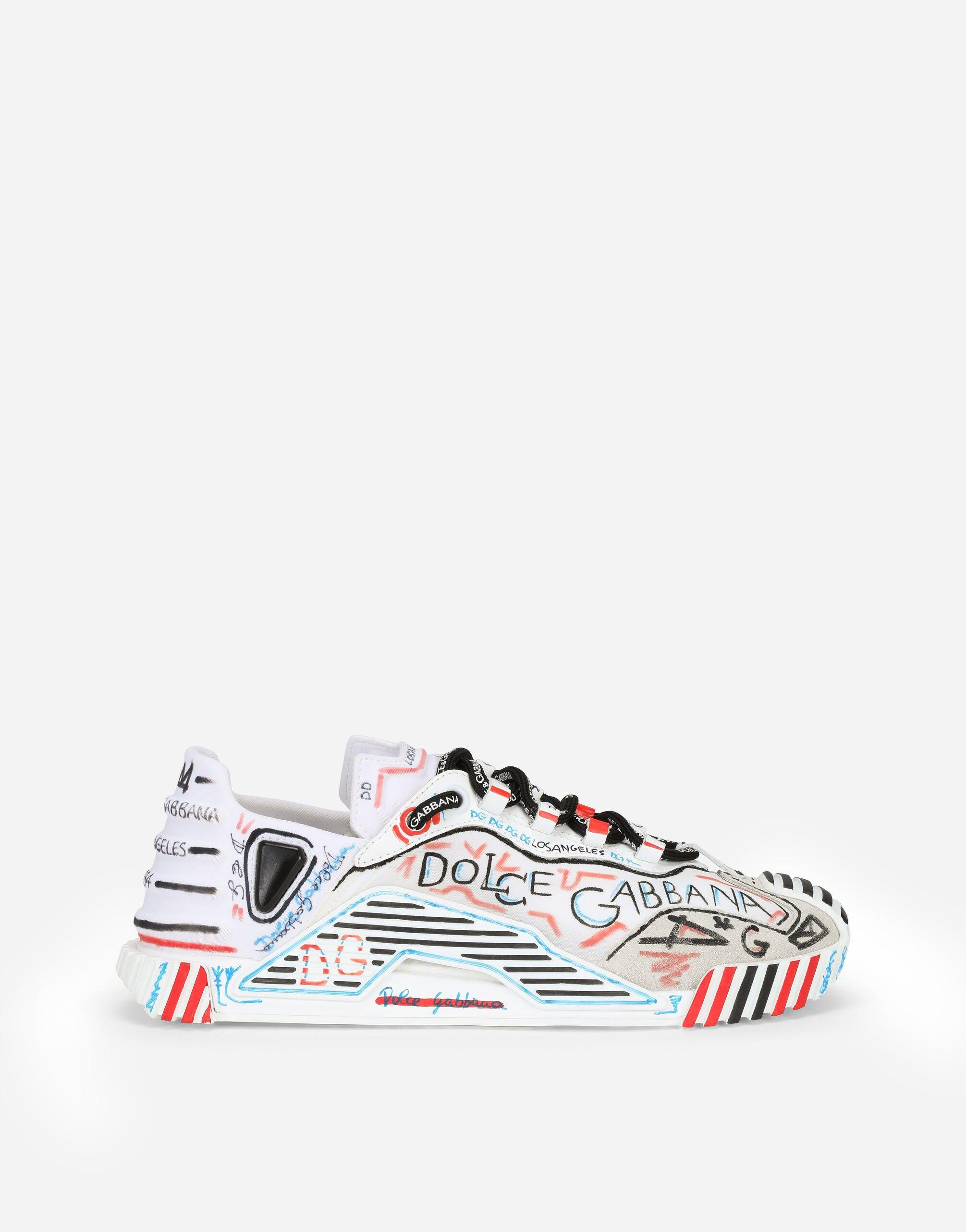 Mixed-materials Los Angeles NS1 slip-on sneakers