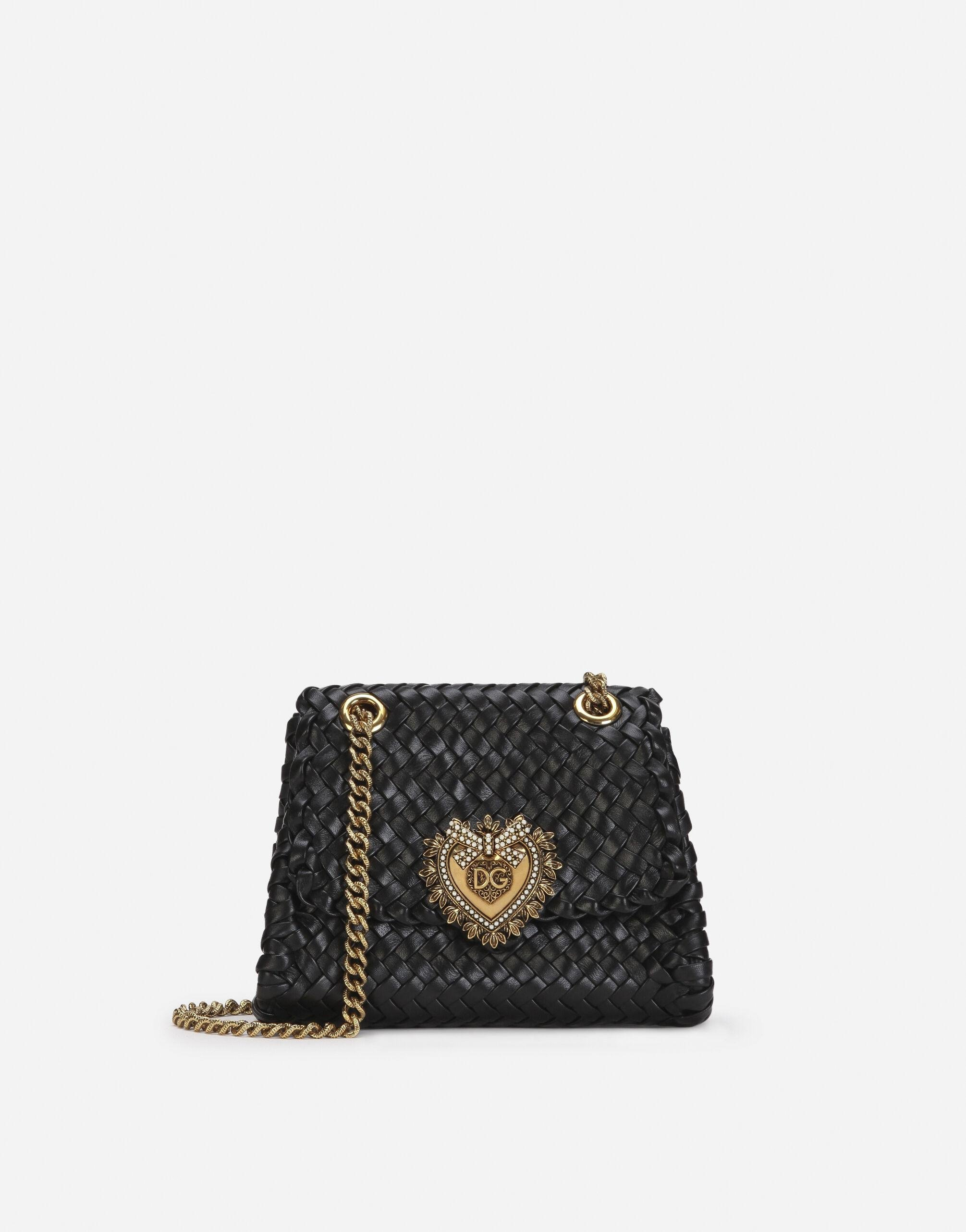 Small Devotion shoulder bag in woven nappa leather