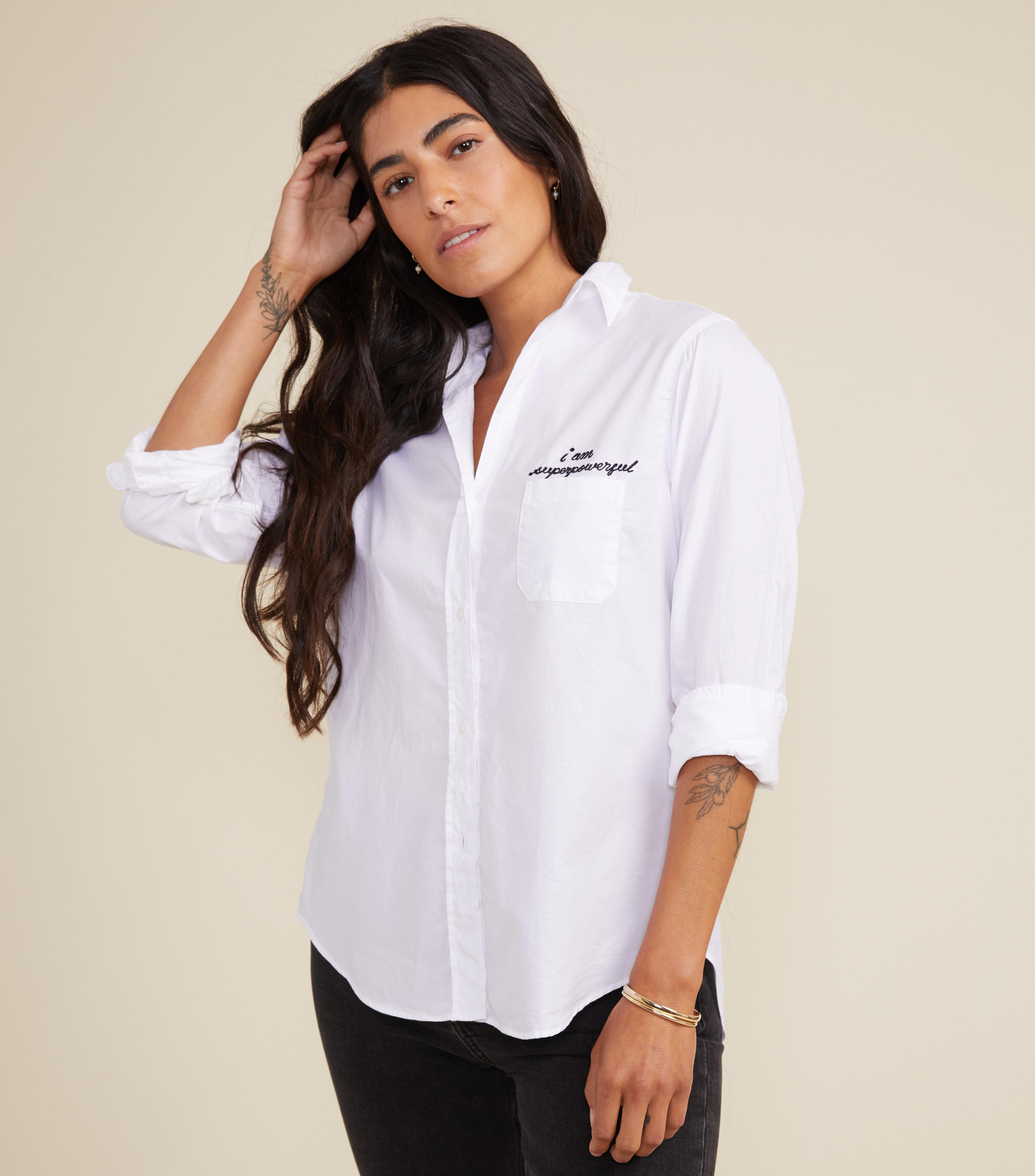 The Hero Button-Up Shirt Powerful, Brushed Cotton
