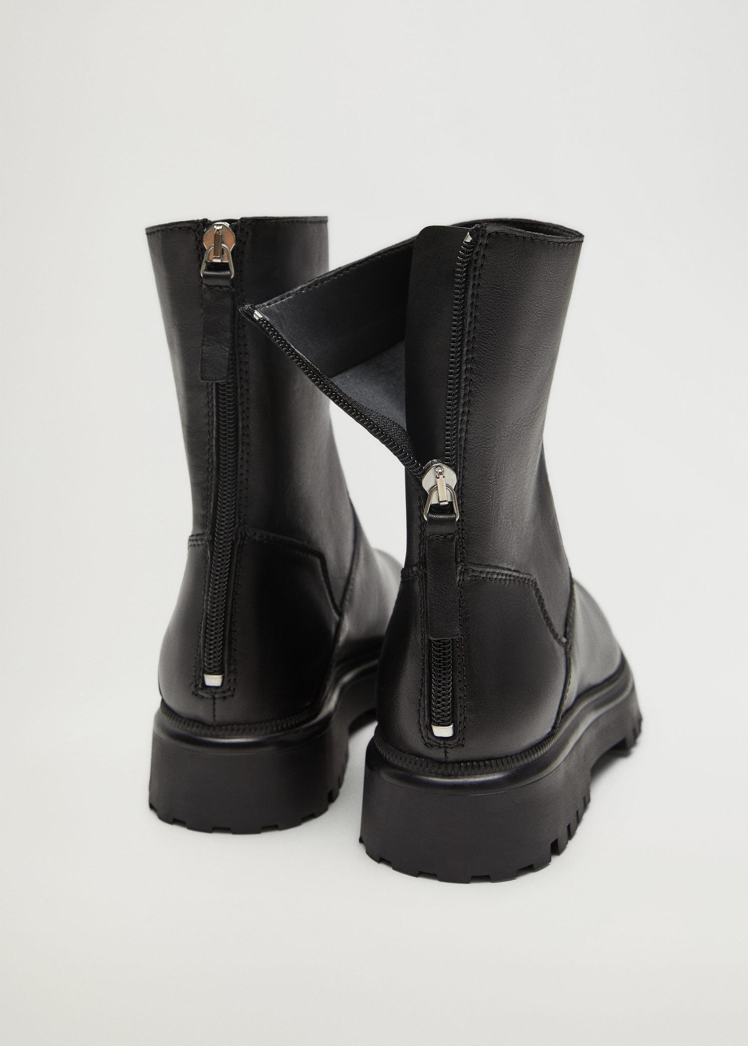 Leather boots with track sole 2