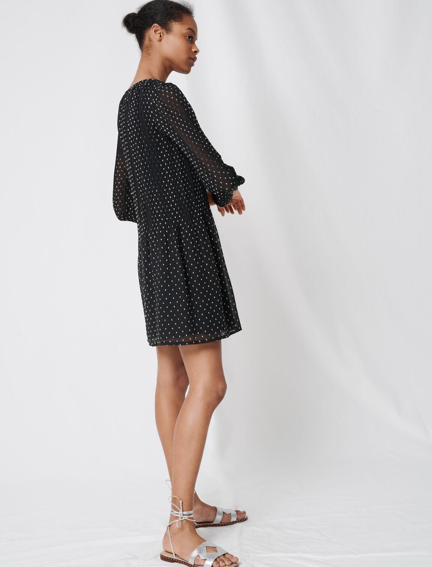 PLEATED AND EMBROIDERED DRESS 1