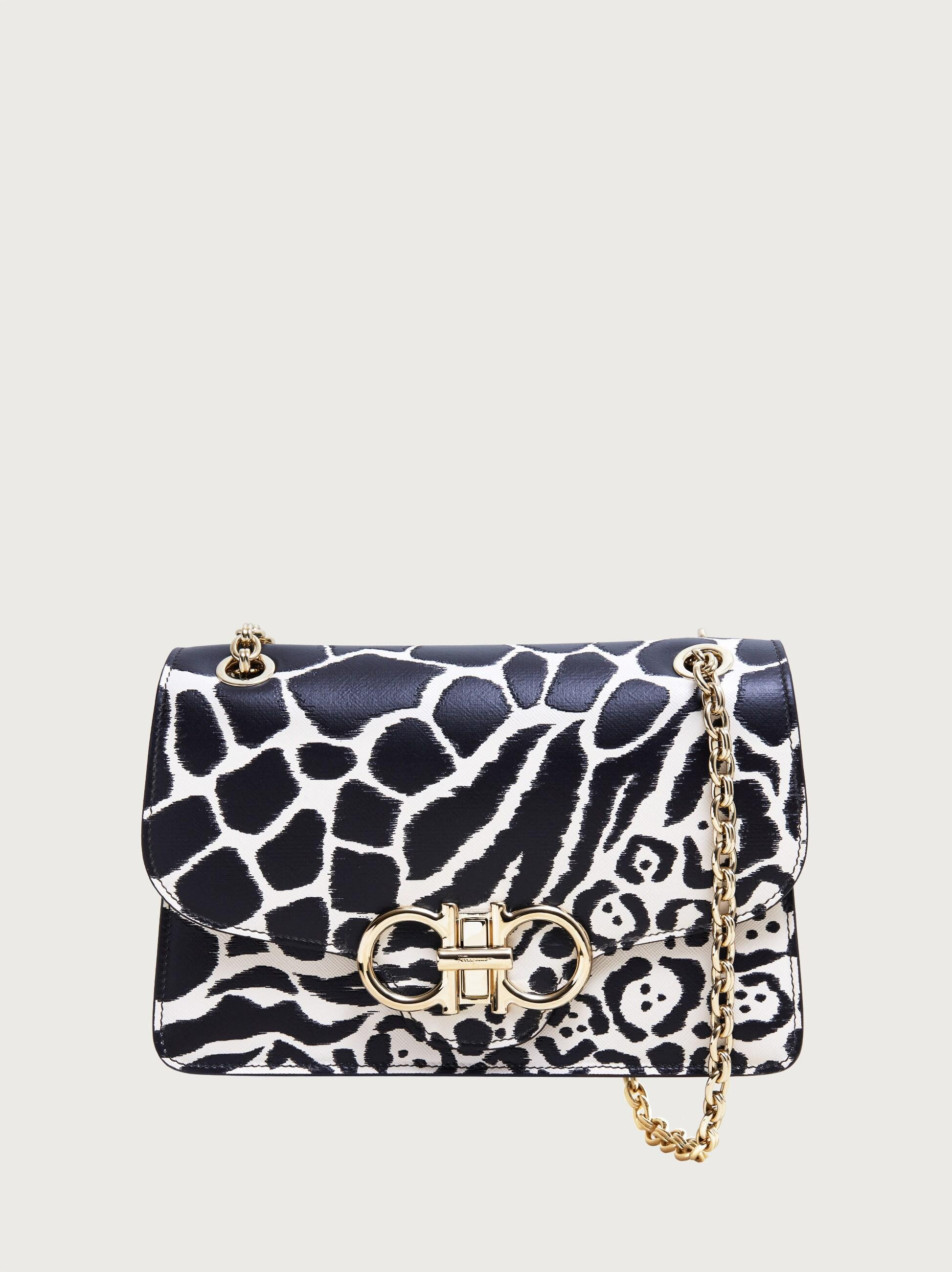 QUILTED GANCINI FLAP BAG (L)