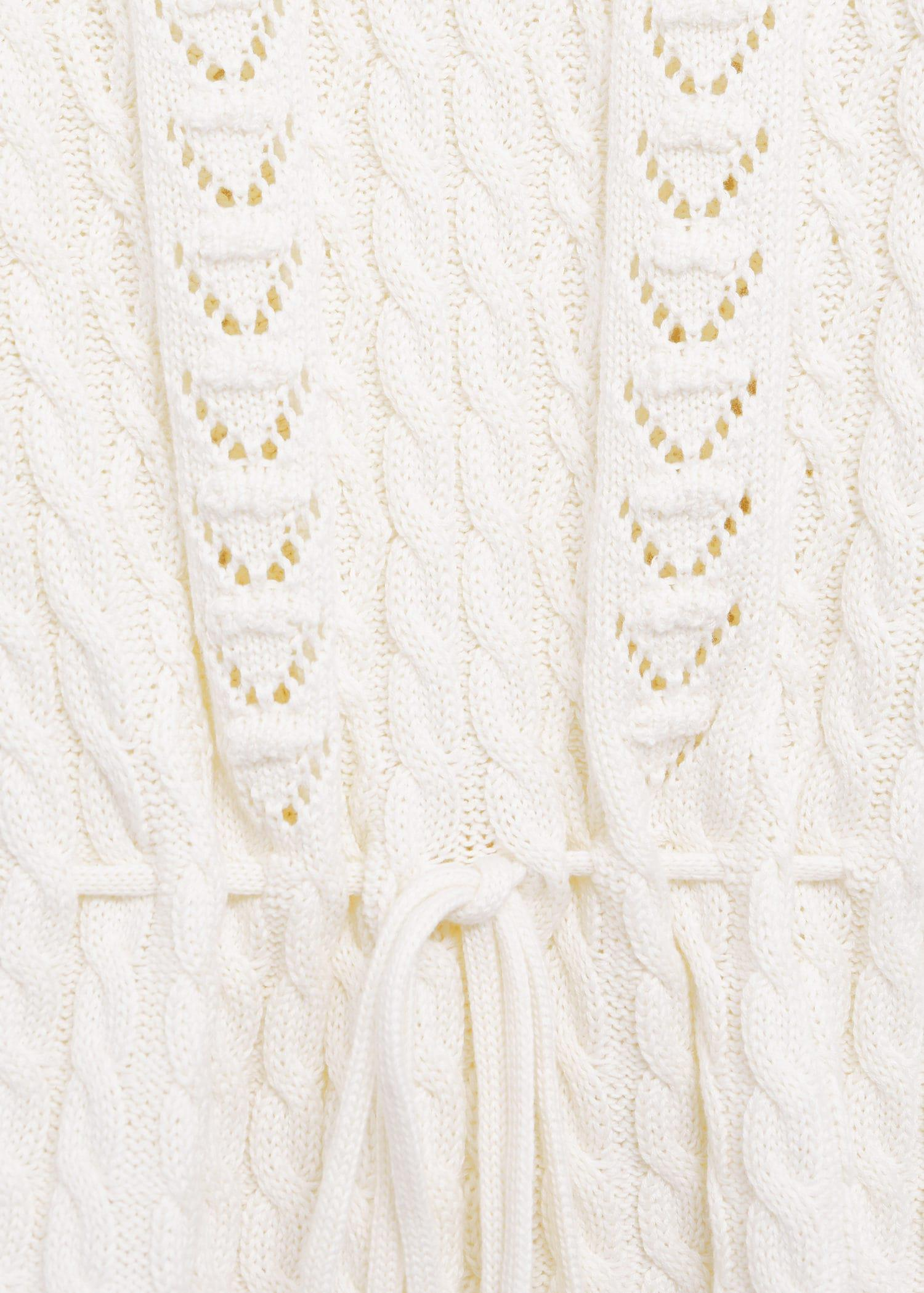 Openwork cable-knit sweater 6