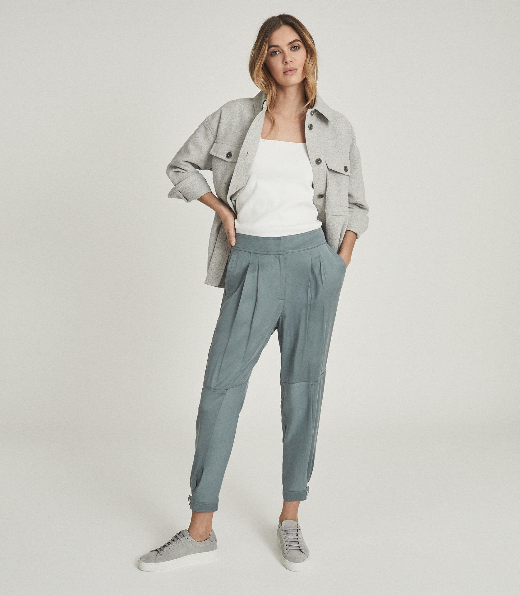 MARLOW - PLEAT FRONT TAPERED PANTS