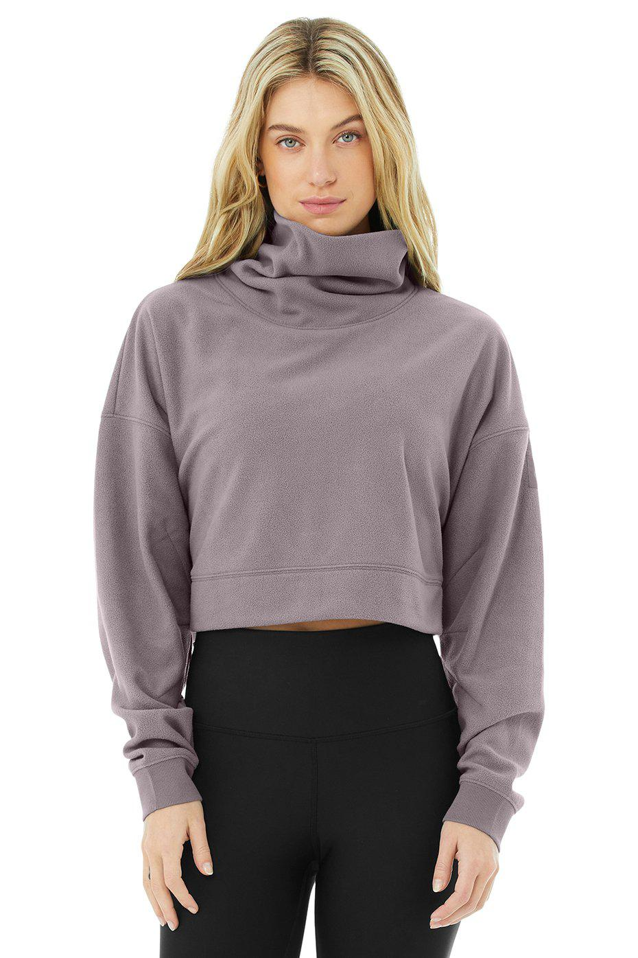 Cropped Warm Up Pullover - Purple Dusk