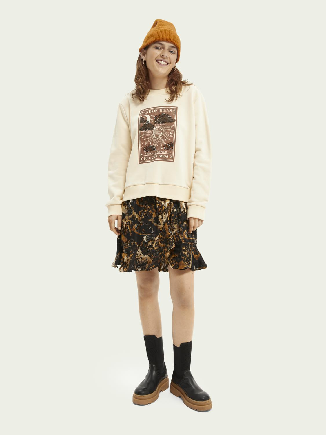 Relaxed-fit graphic sweater 1
