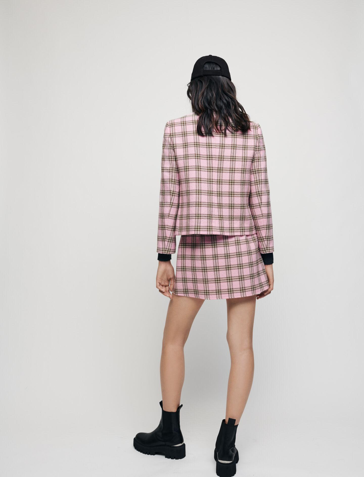 CHECKED JACKET WITH CONTRASTING NECKTIE 3
