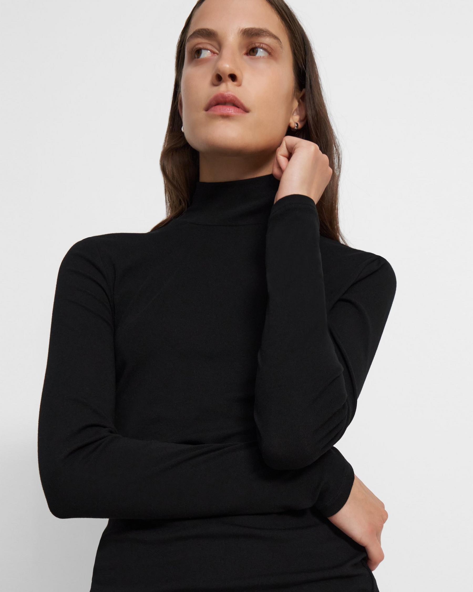 Turtleneck Sweater in Ribbed Viscose 2