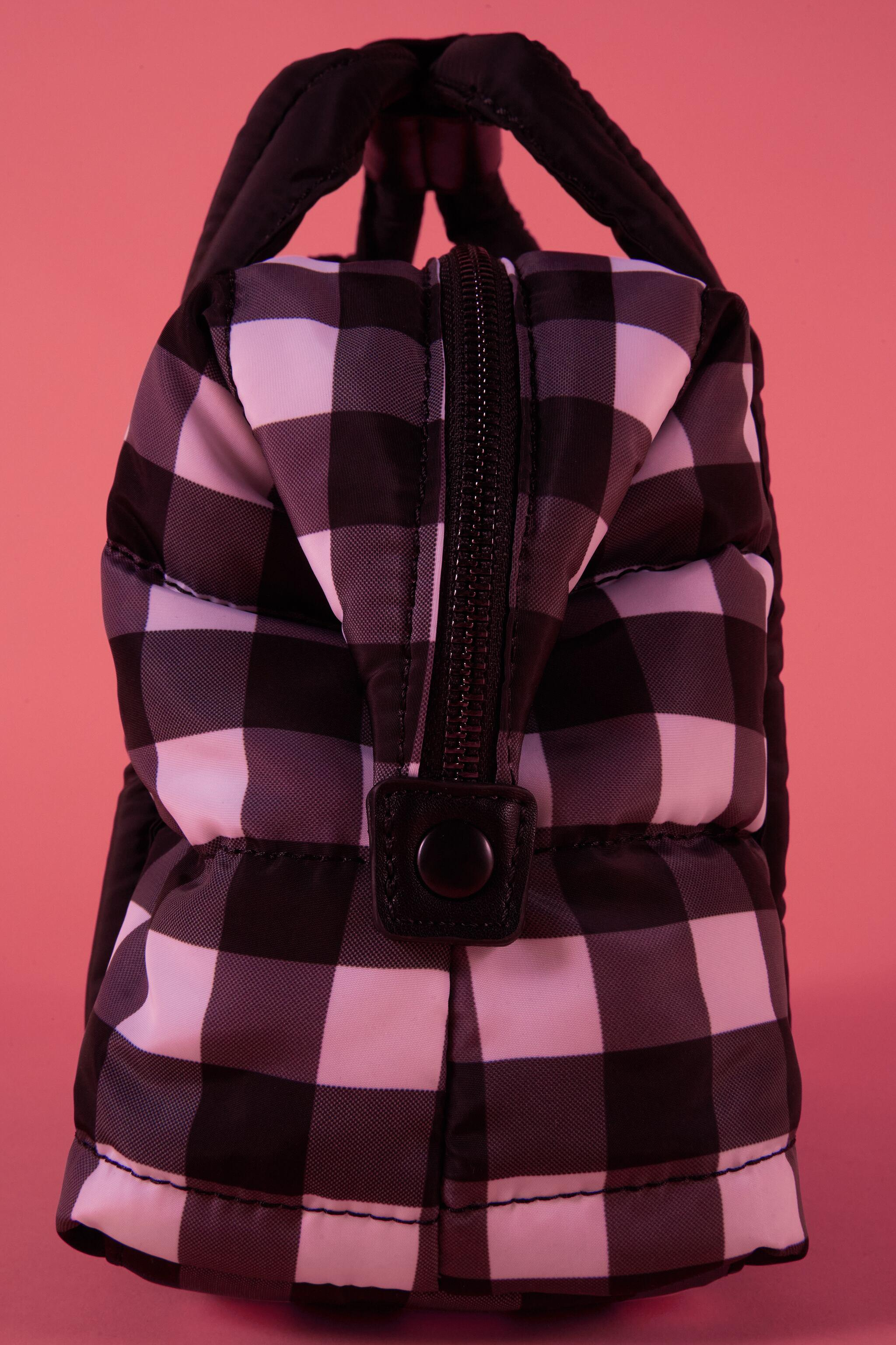 QUILTED GINGHAM MIDI TOTE BAG